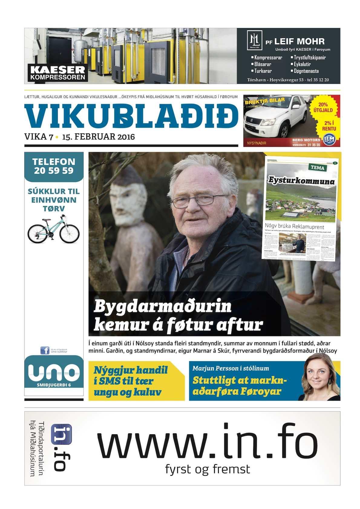 Vikublaðið 15. feb. 2016