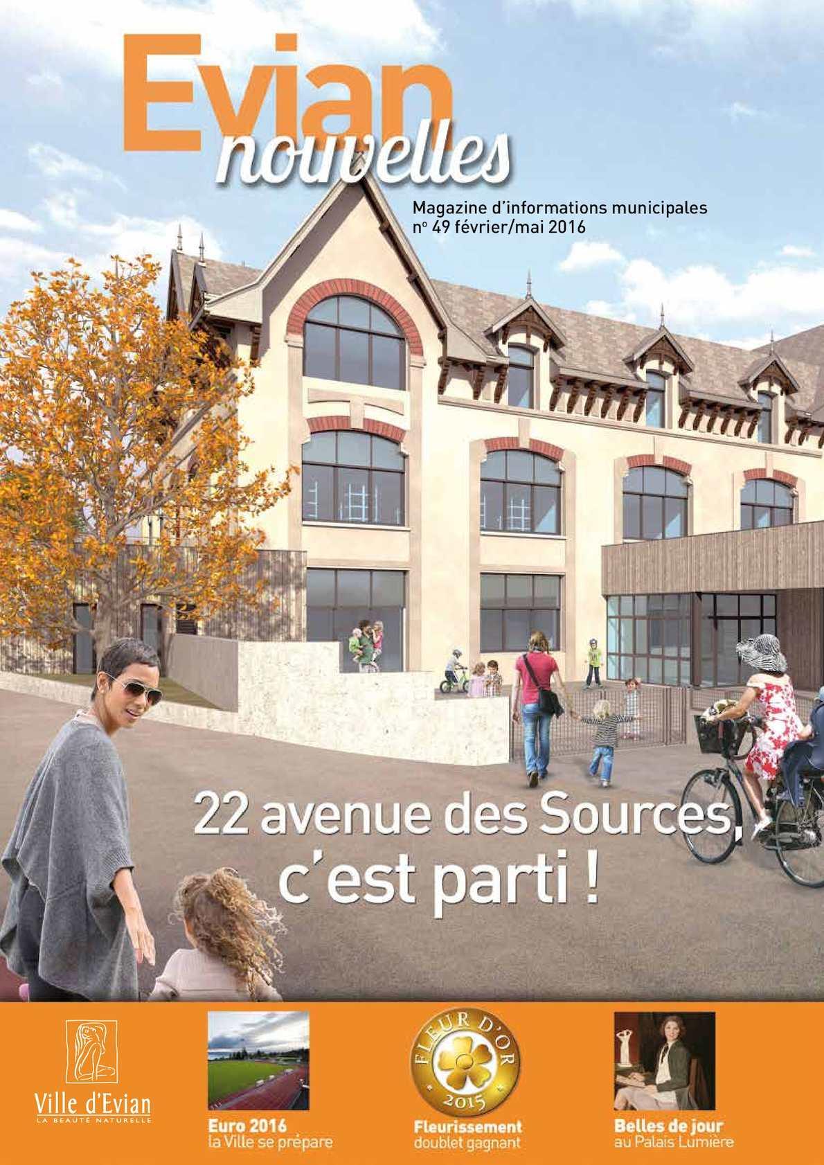 Calam o journal municipal evian nouvelles 49 for Piscine d evian
