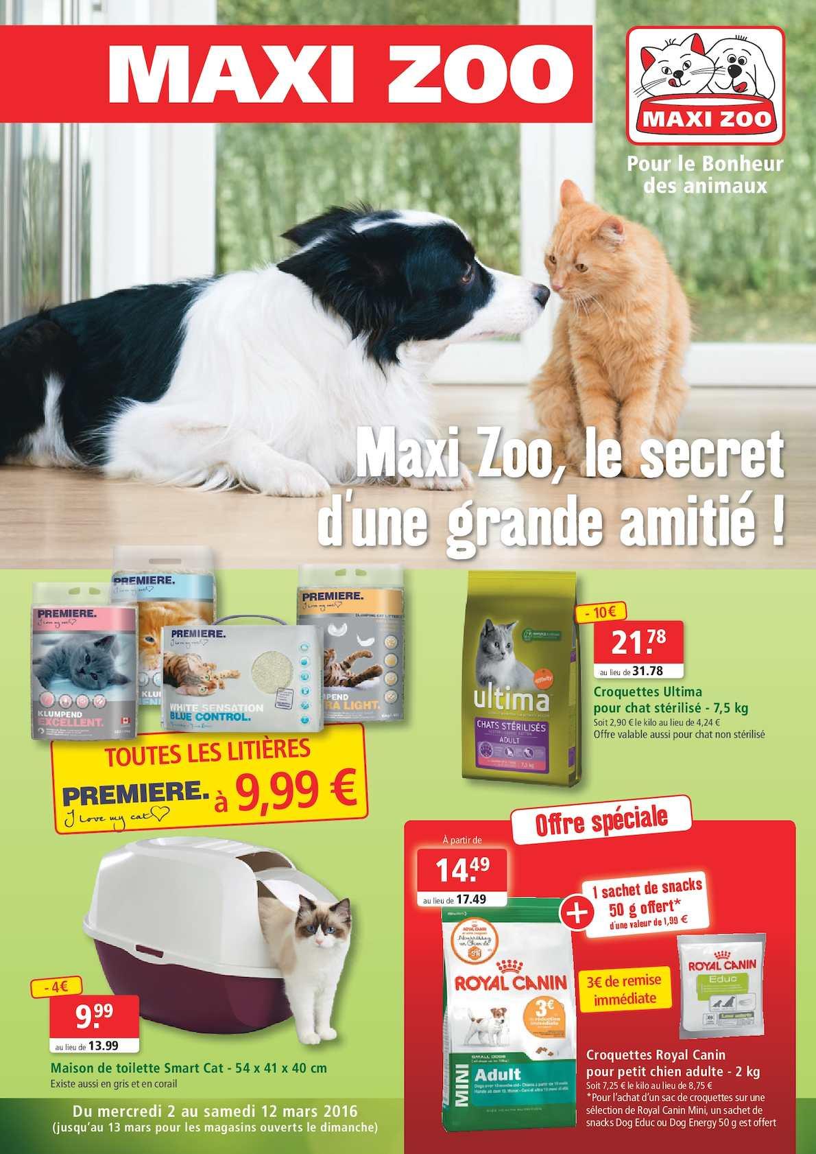 Calam o maxi zoo le secret d 39 une grande amiti - Magasin ouvert dimanche 7 mai ...