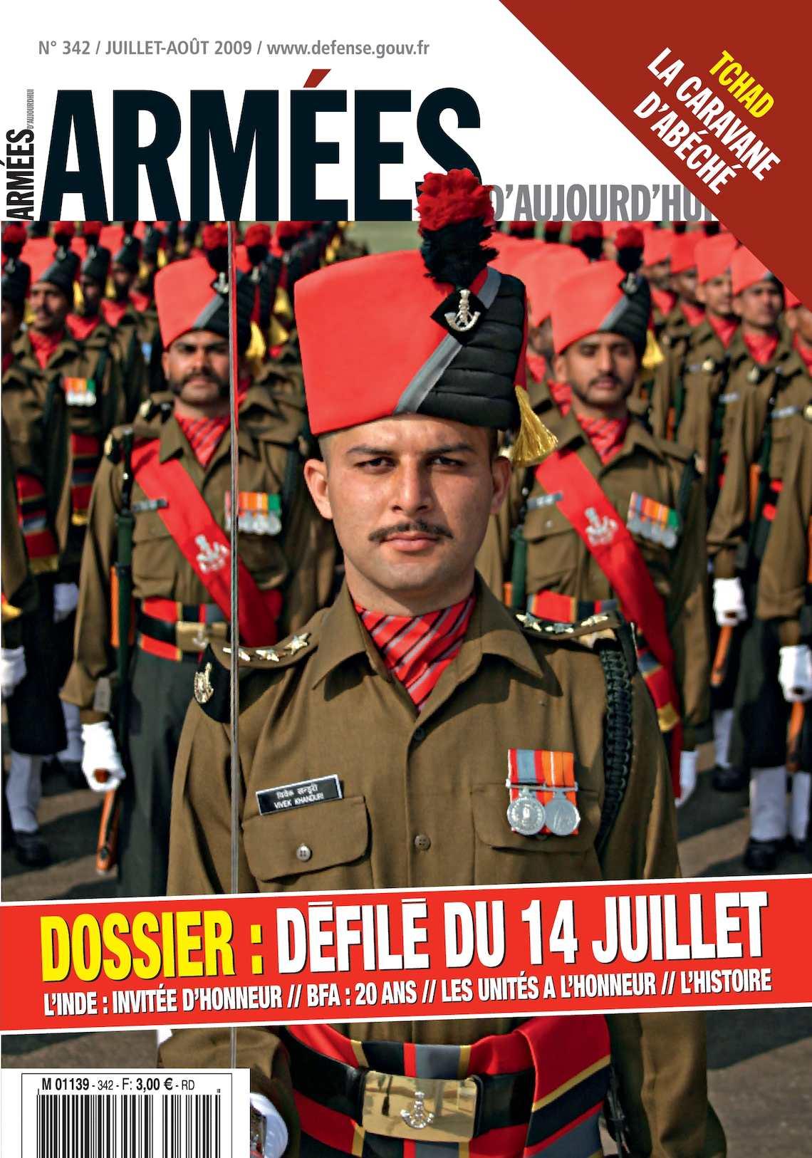 Armées d'Aujourd'hui n° 342 Juillet-Août 2009