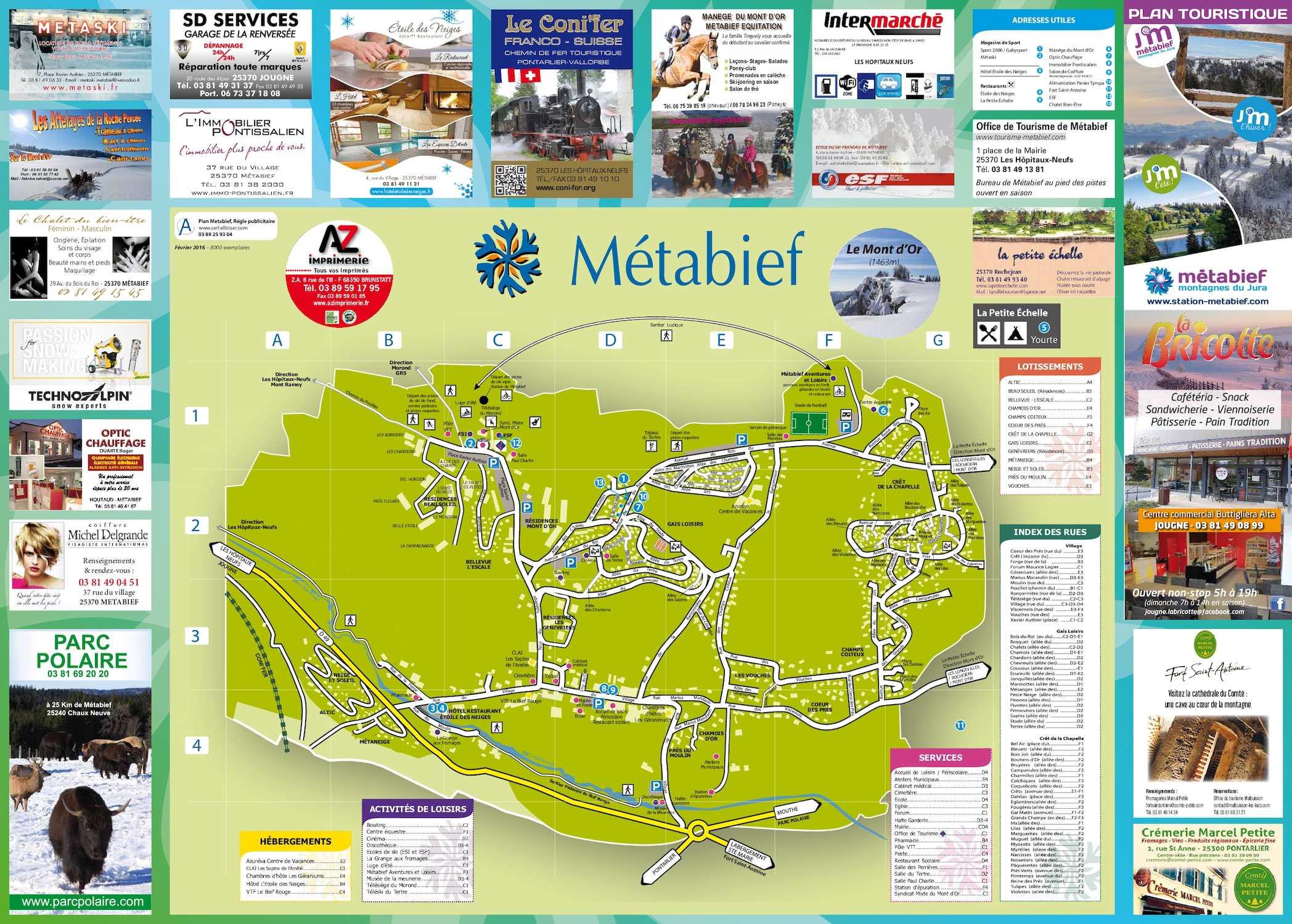 Calaméo Plan village Métabief 2016