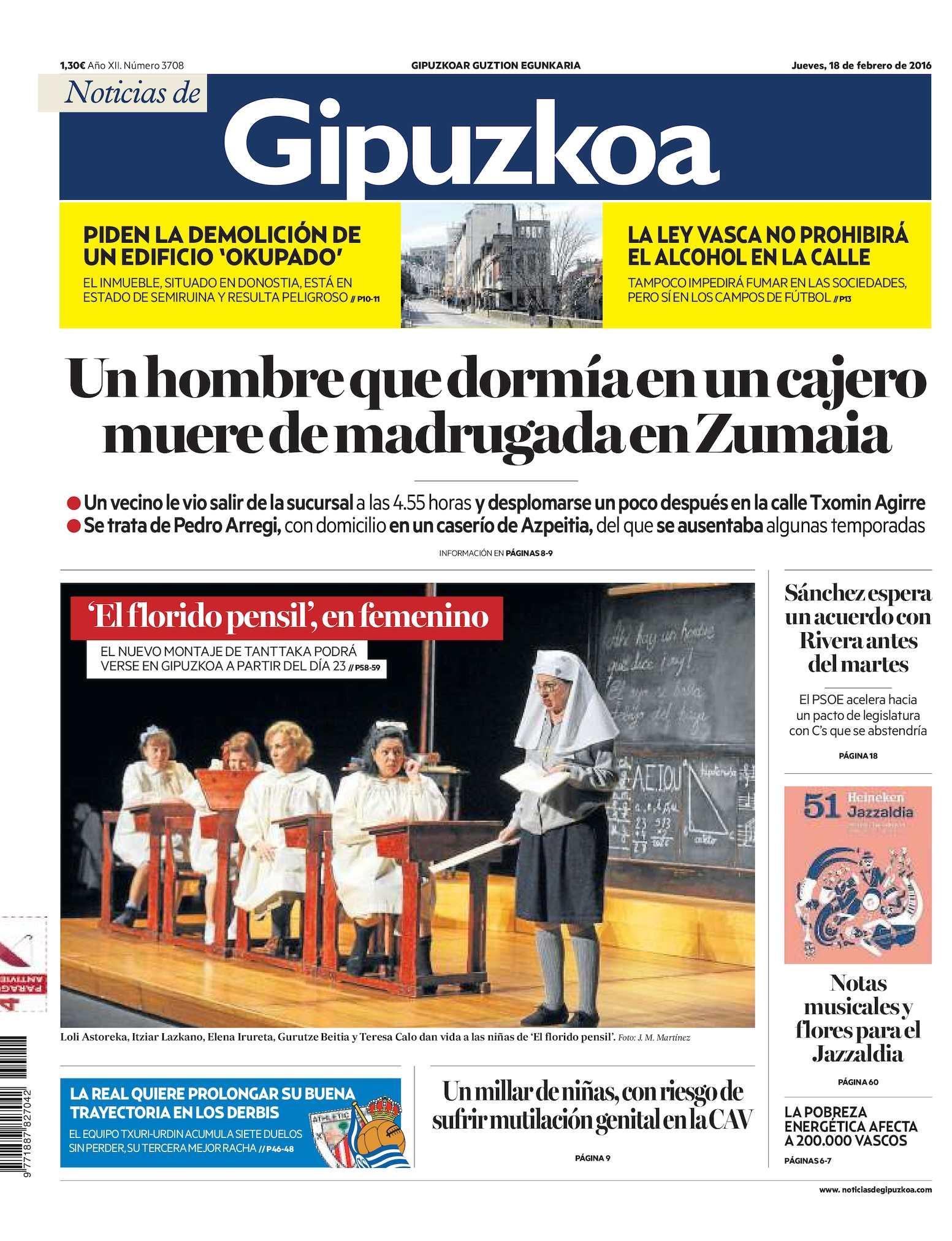 Calaméo - Noticias de Gipuzkoa 20160218