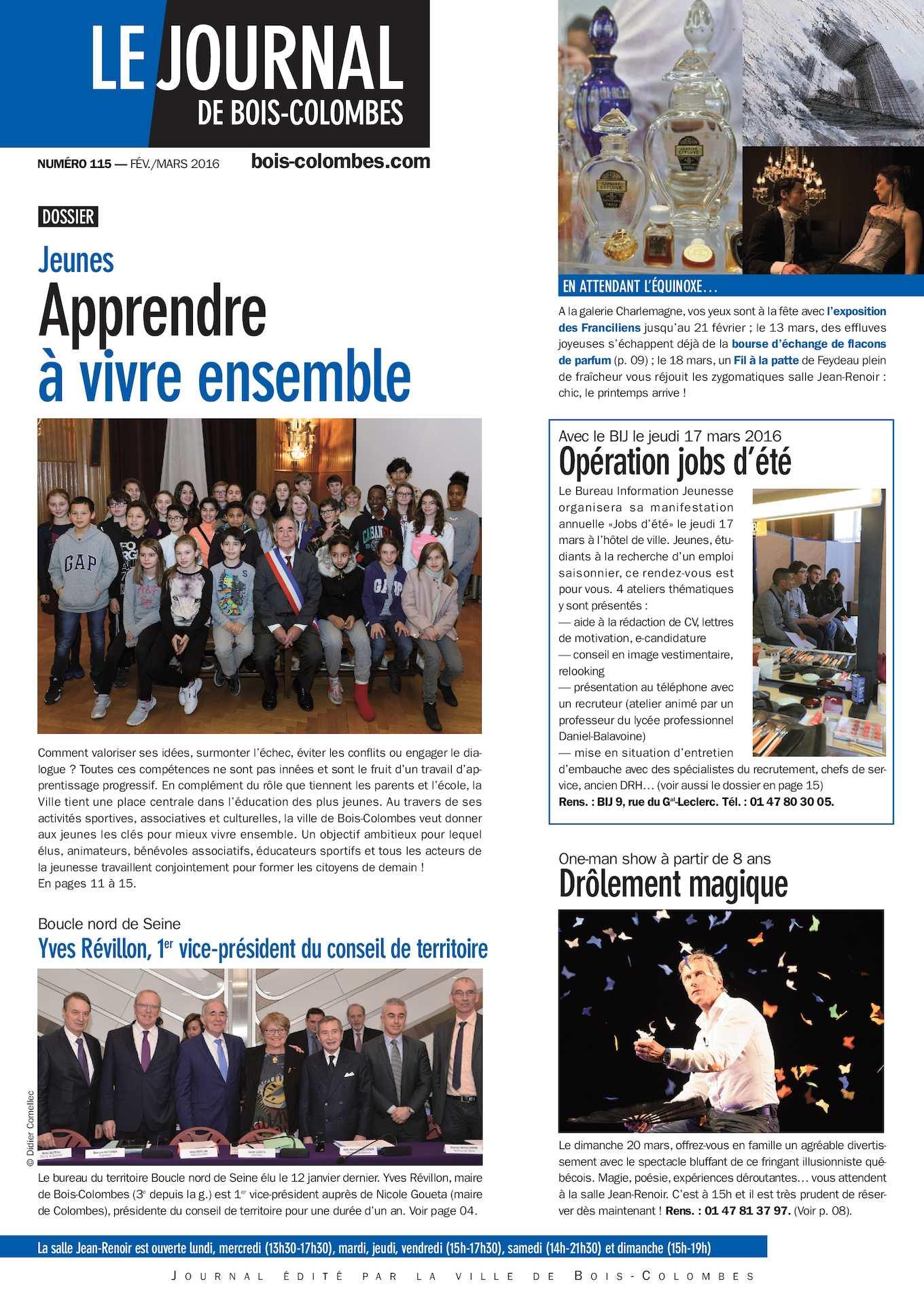 Calaméo  Le journal de BoisColombes JBC n°115 FévMars 2016 ~ Maire Bois Colombes