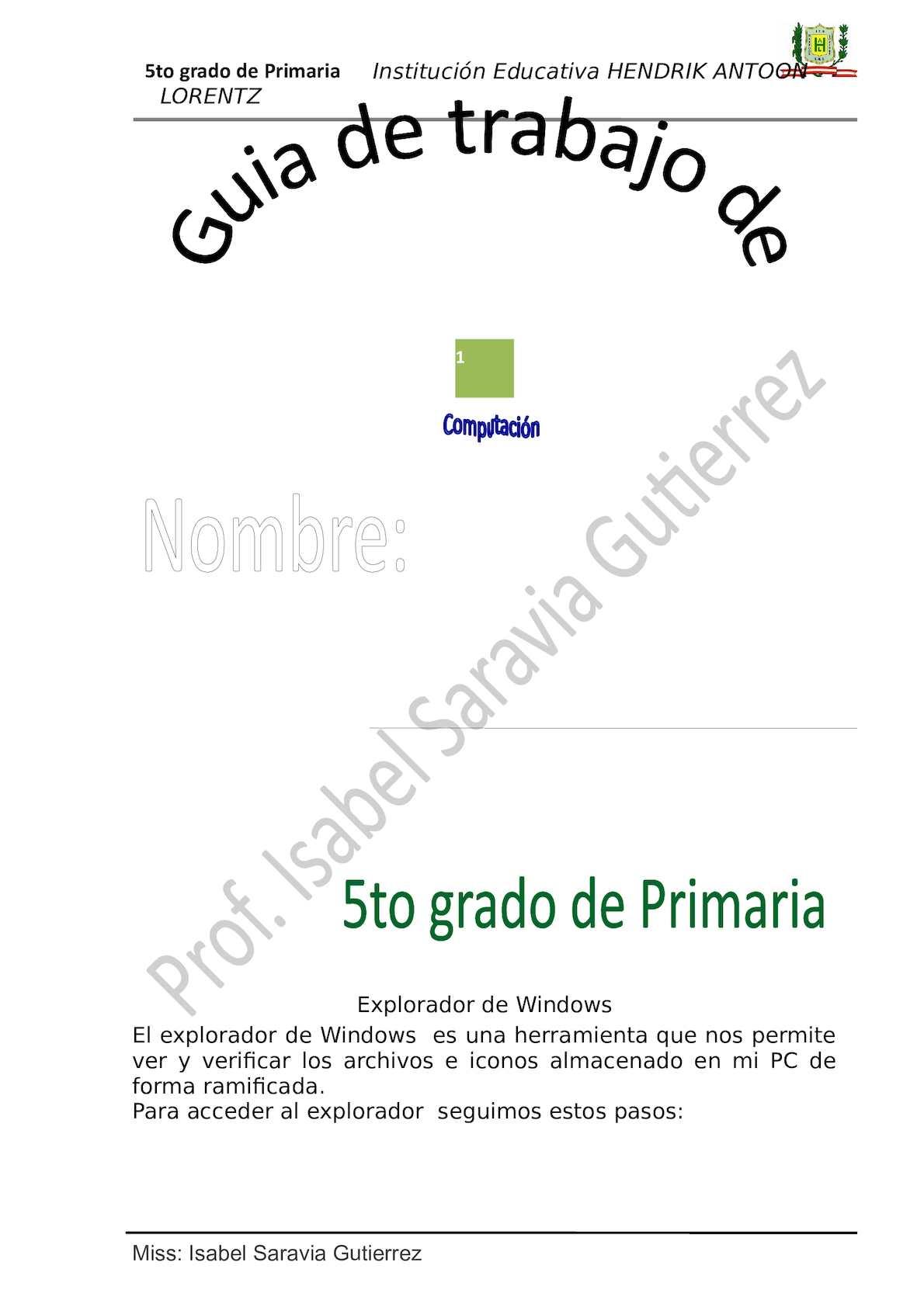 Primaria 5t Onew
