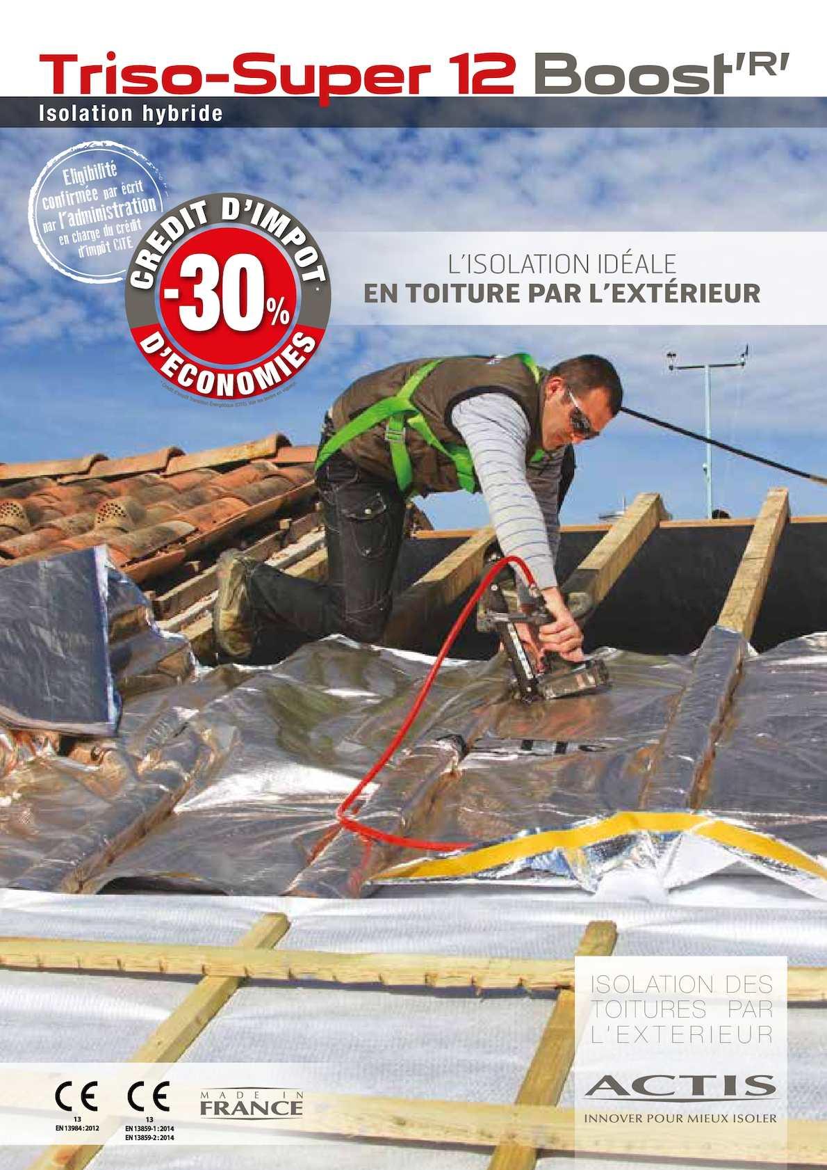 calam o triso super 12 boost 39 r 39 solution d 39 isolation en toiture actis. Black Bedroom Furniture Sets. Home Design Ideas