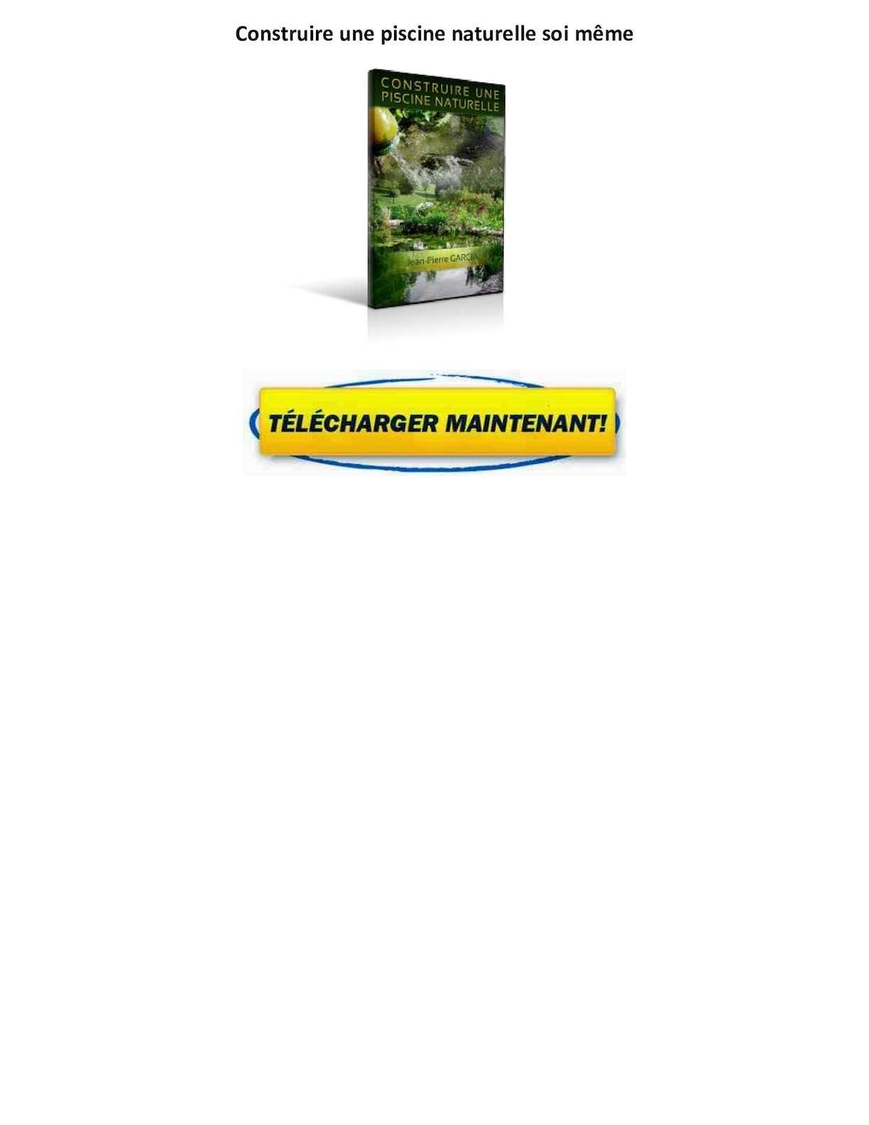 Calaméo   Livre Construire Une Piscine Naturelle Gratuit Pdf Avis Jean  Pierre Garcia