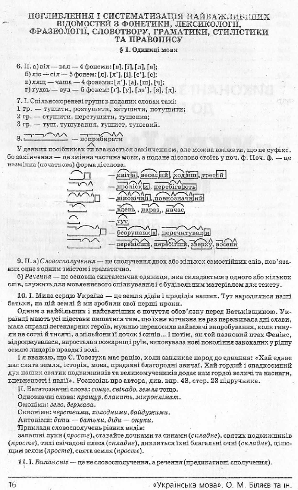Біляєв Українська Мова 11 Клас Гдз