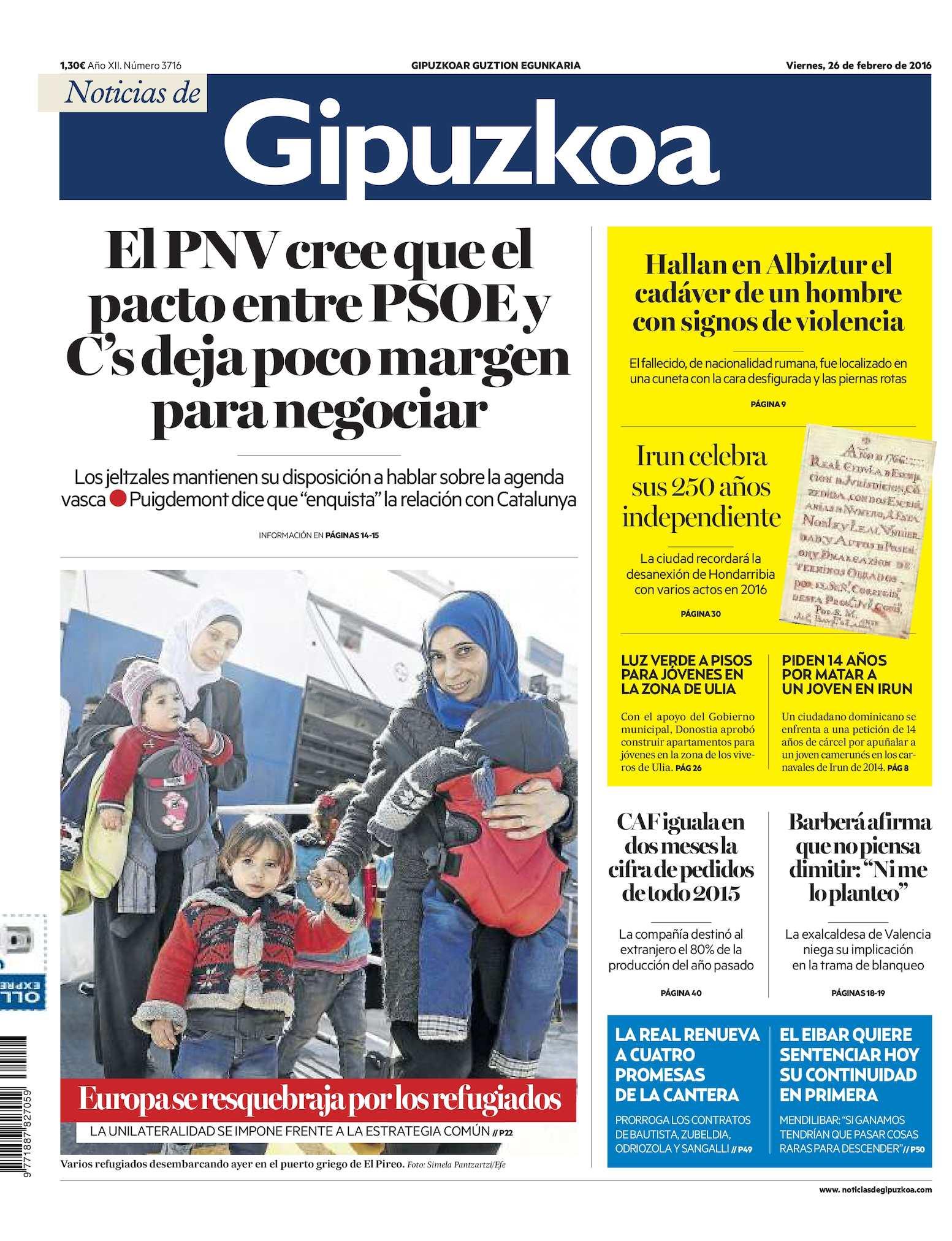 Calaméo - Noticias de Gipuzkoa 20160226