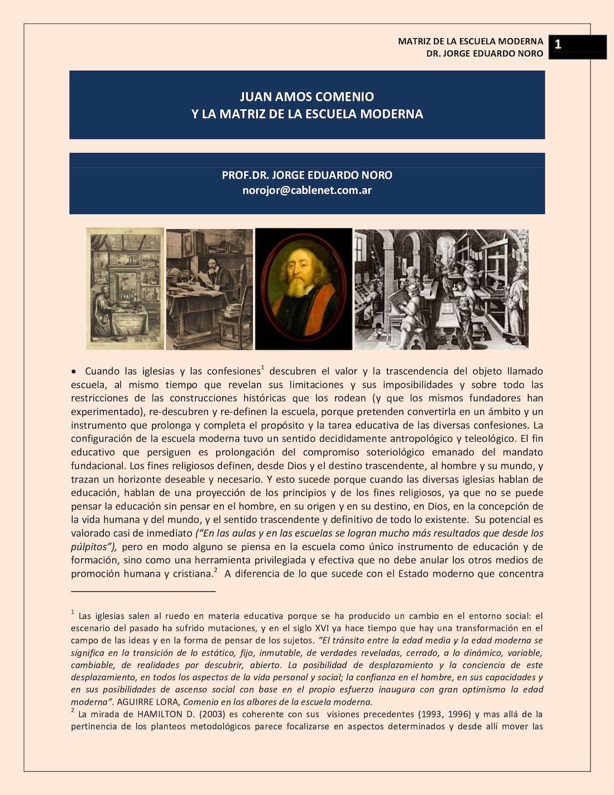 213. COMENIO Y LA FORMACION DE LA ESCUELA MODERNA