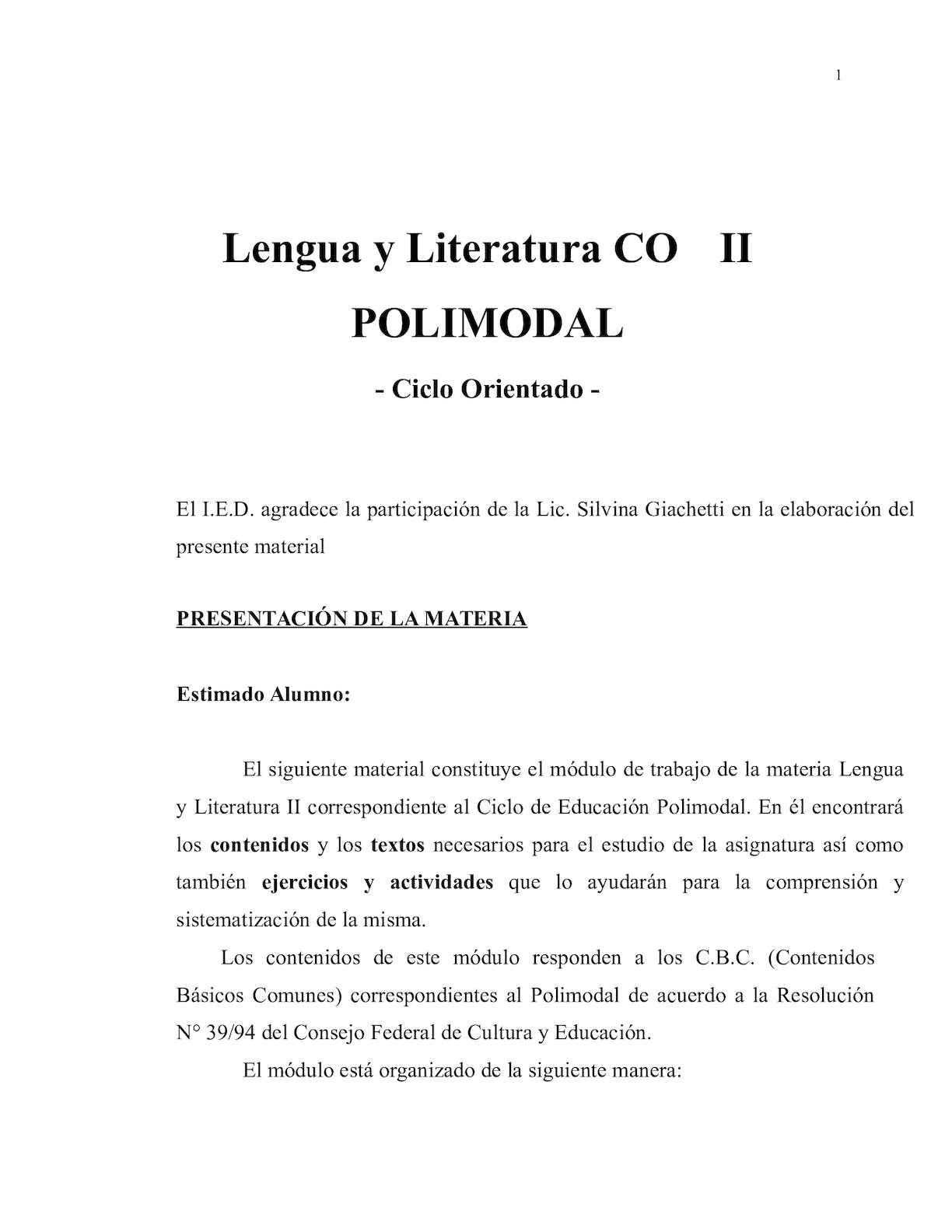 Calaméo - Lengua Y Literatura 3er Ciclo