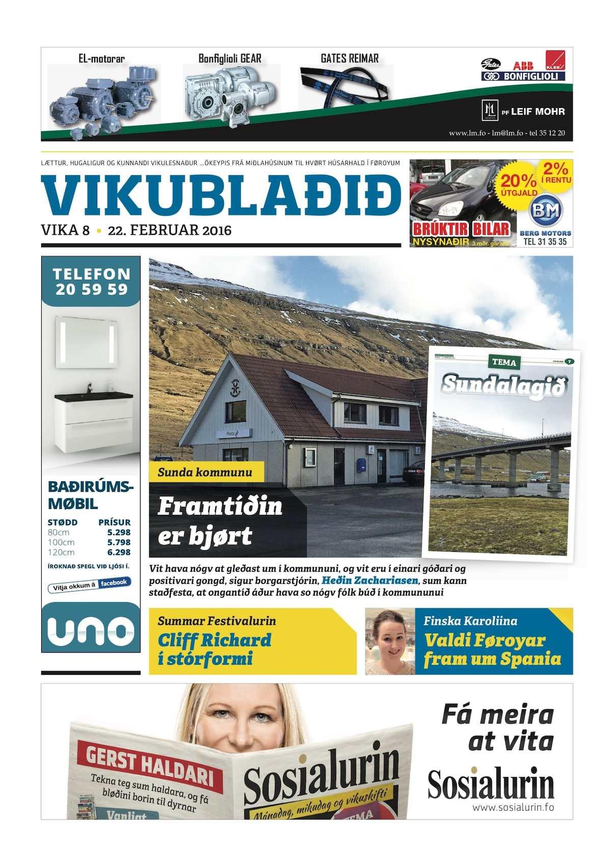 Vikublaðið 22. feb. 2016