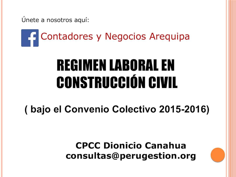 Regimen Laboral En Construccion