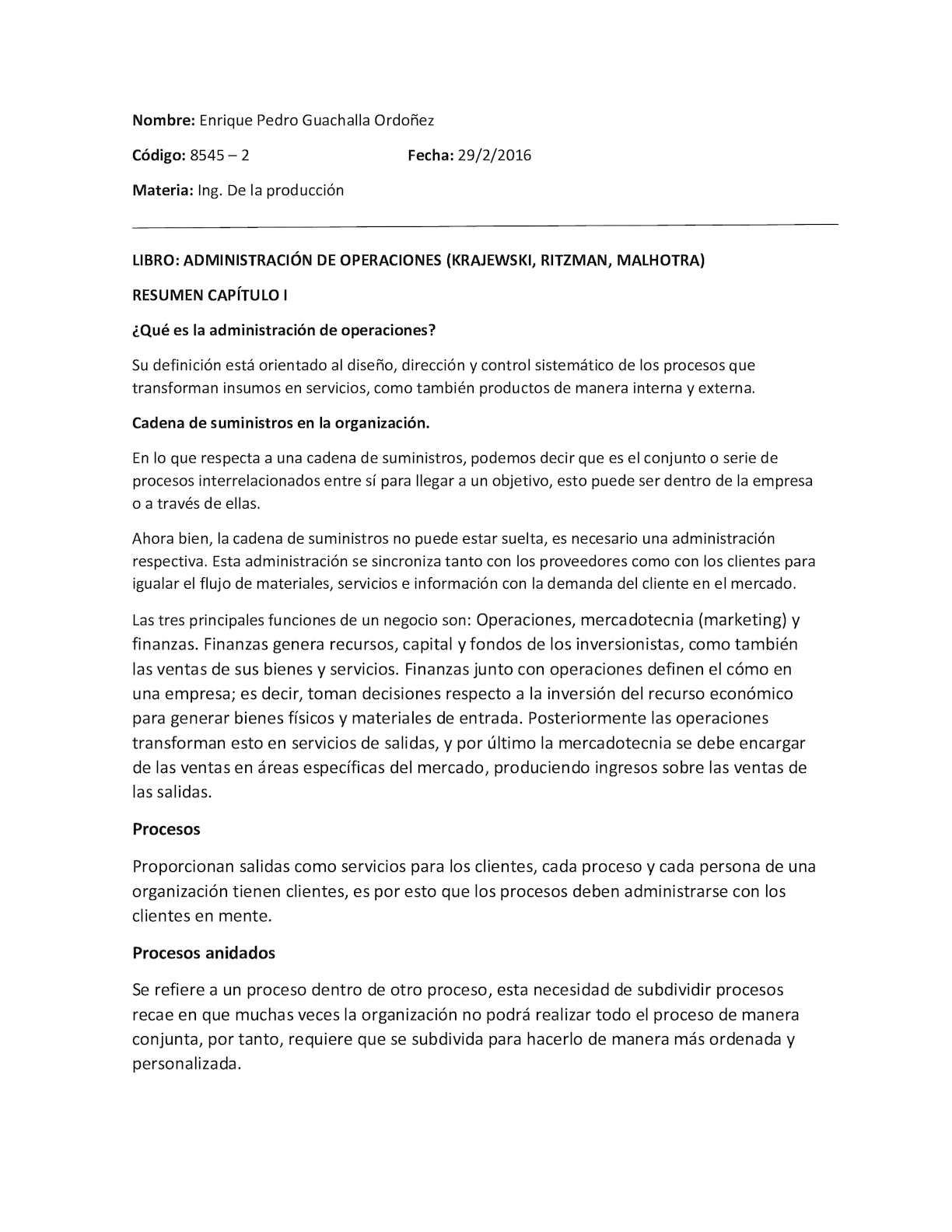 Calaméo - ADMINISTRACION DE OPERACIONES - RESUMEN CAPITULO I