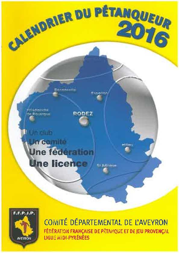 Calendrier Petanque Aveyron 2016 Rotated
