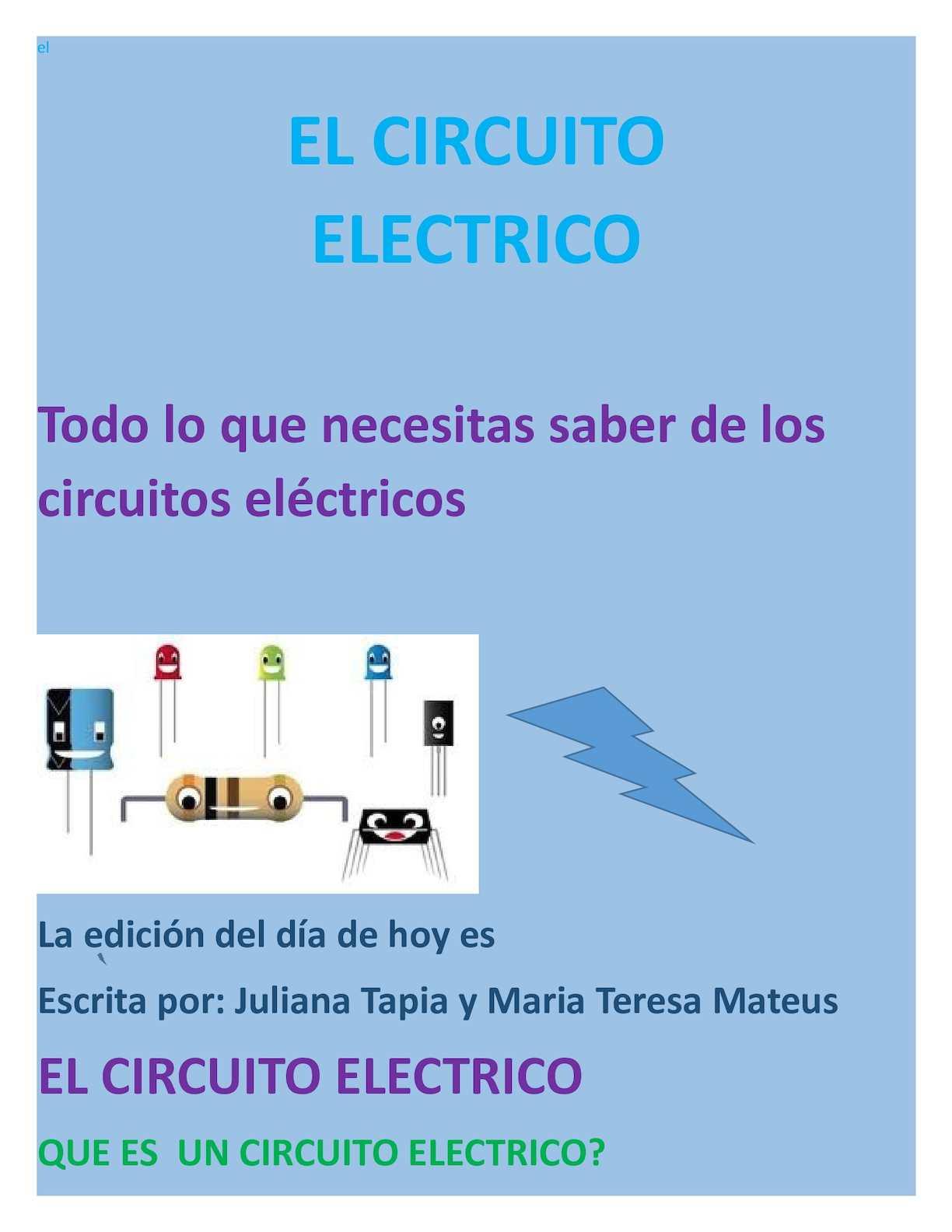 Circuito Que Es : Calaméo el circuito electrico