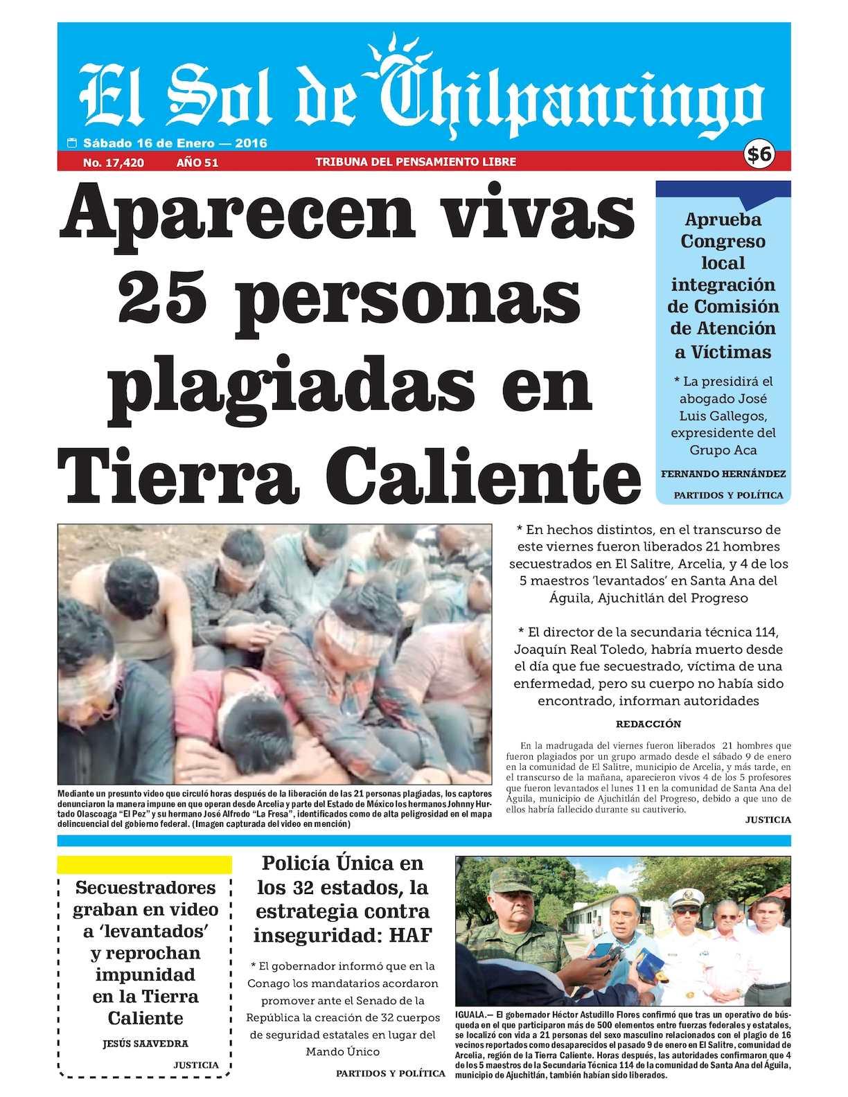 Calaméo - El Sol De Chilpancingo - 16 Enero 2016