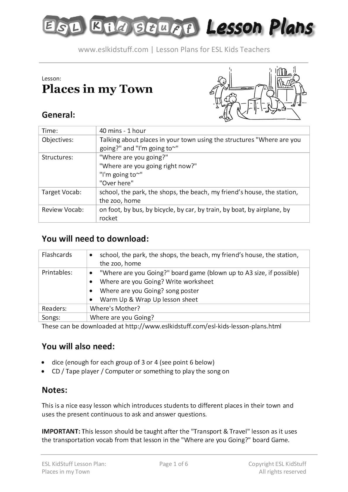 calaméo places in my town lesson plan