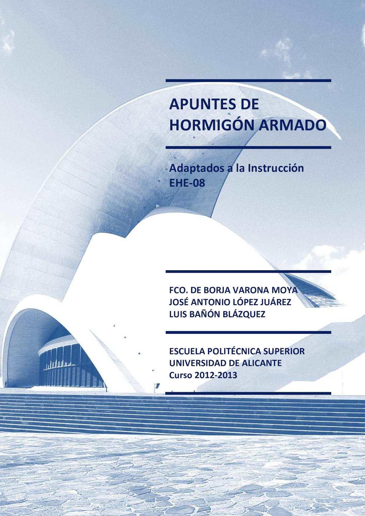 Calaméo - Apuntes de Hormigón Armado 2012 13; Francisco de Borja ...