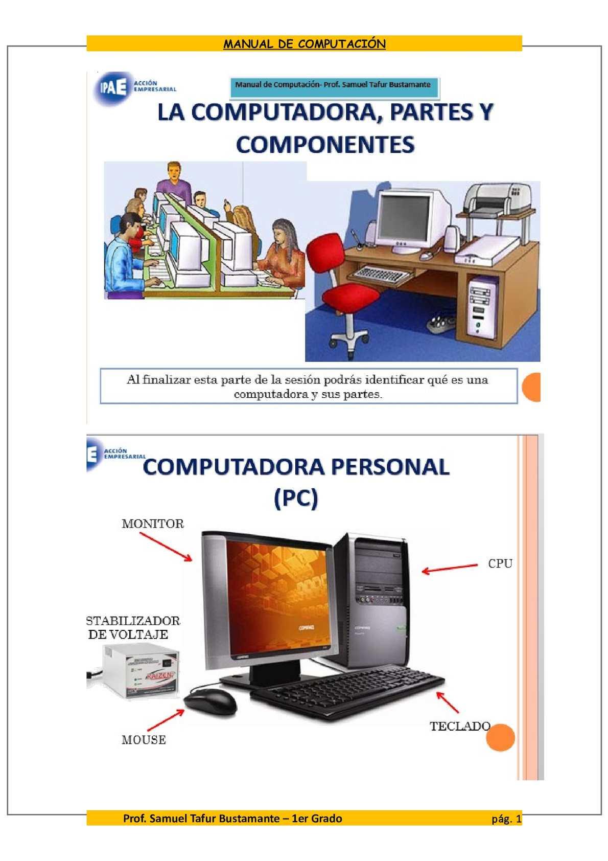La Computadora, Partes Y Componentes