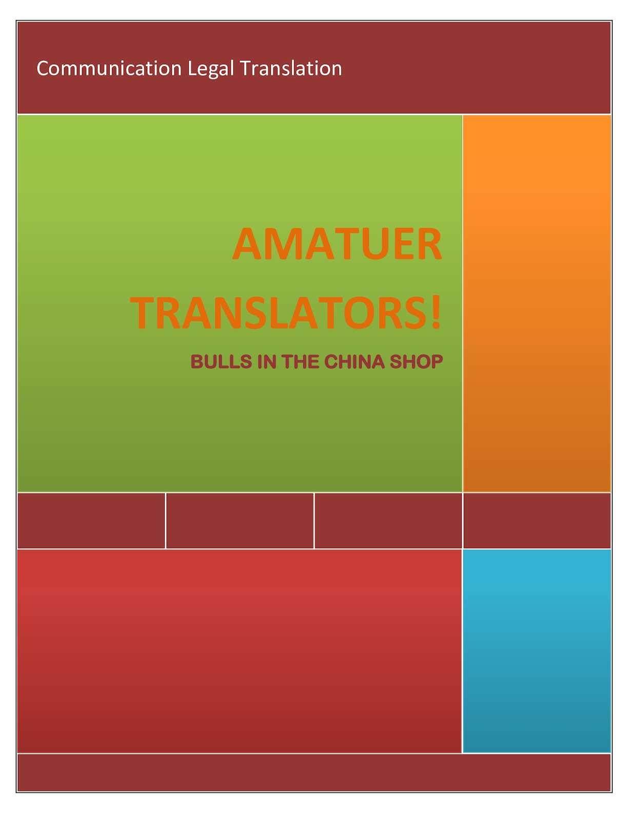 AMATUER TRANSLATORS