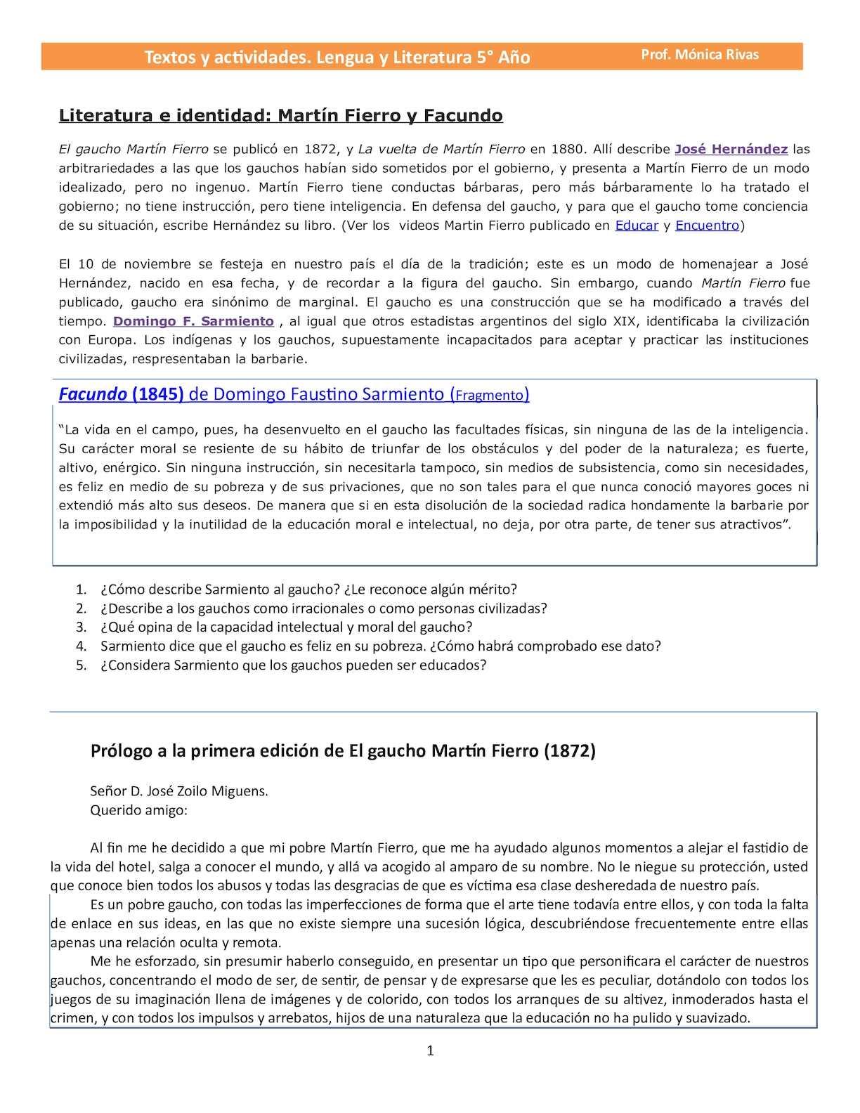 Calaméo - Actividades Lengua Y Literatura 5 Año