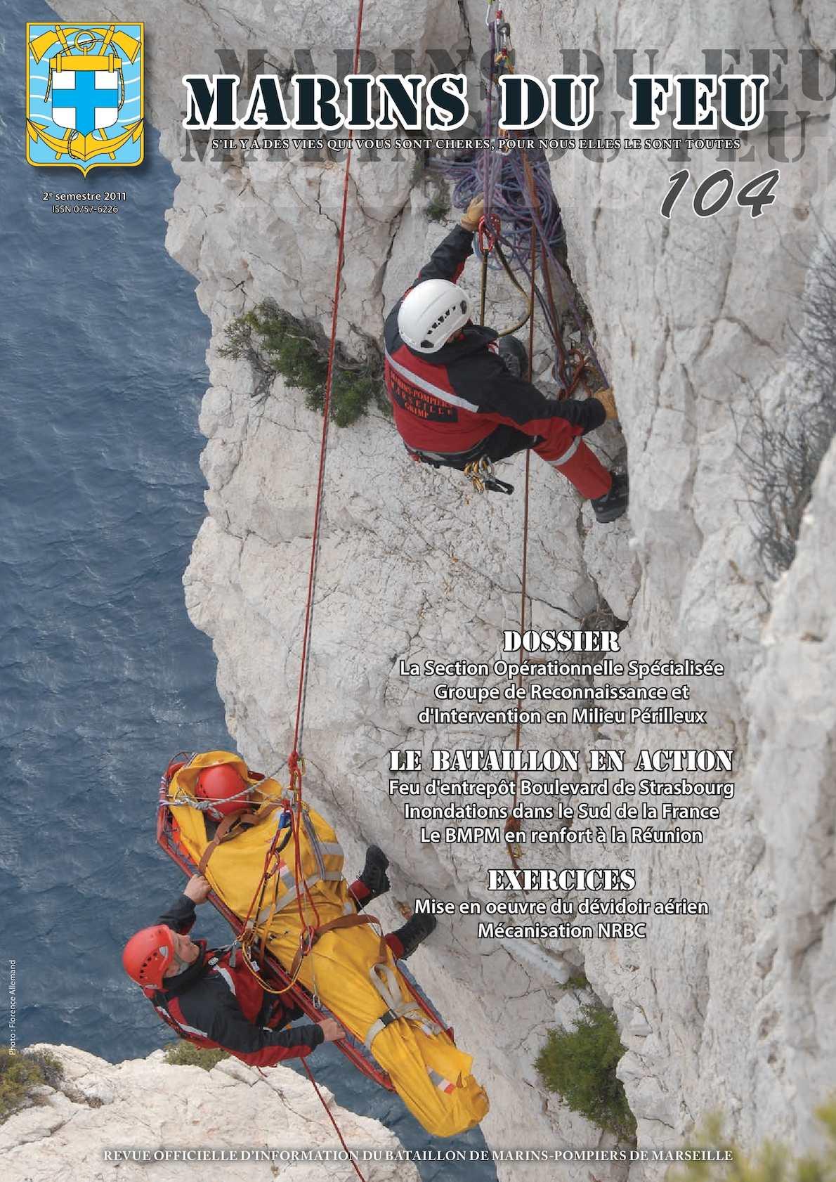 Marins du feu N°104 (mars 2012) Marins-pompiers de Marseille