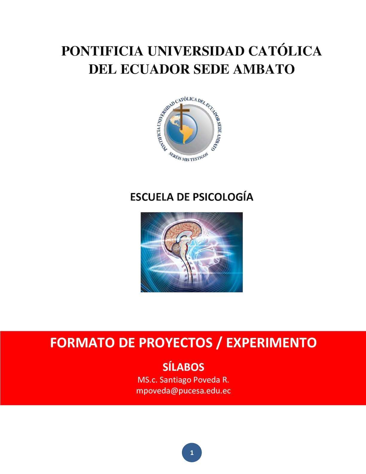 5 Formato Para Proyecto Final De Investigación