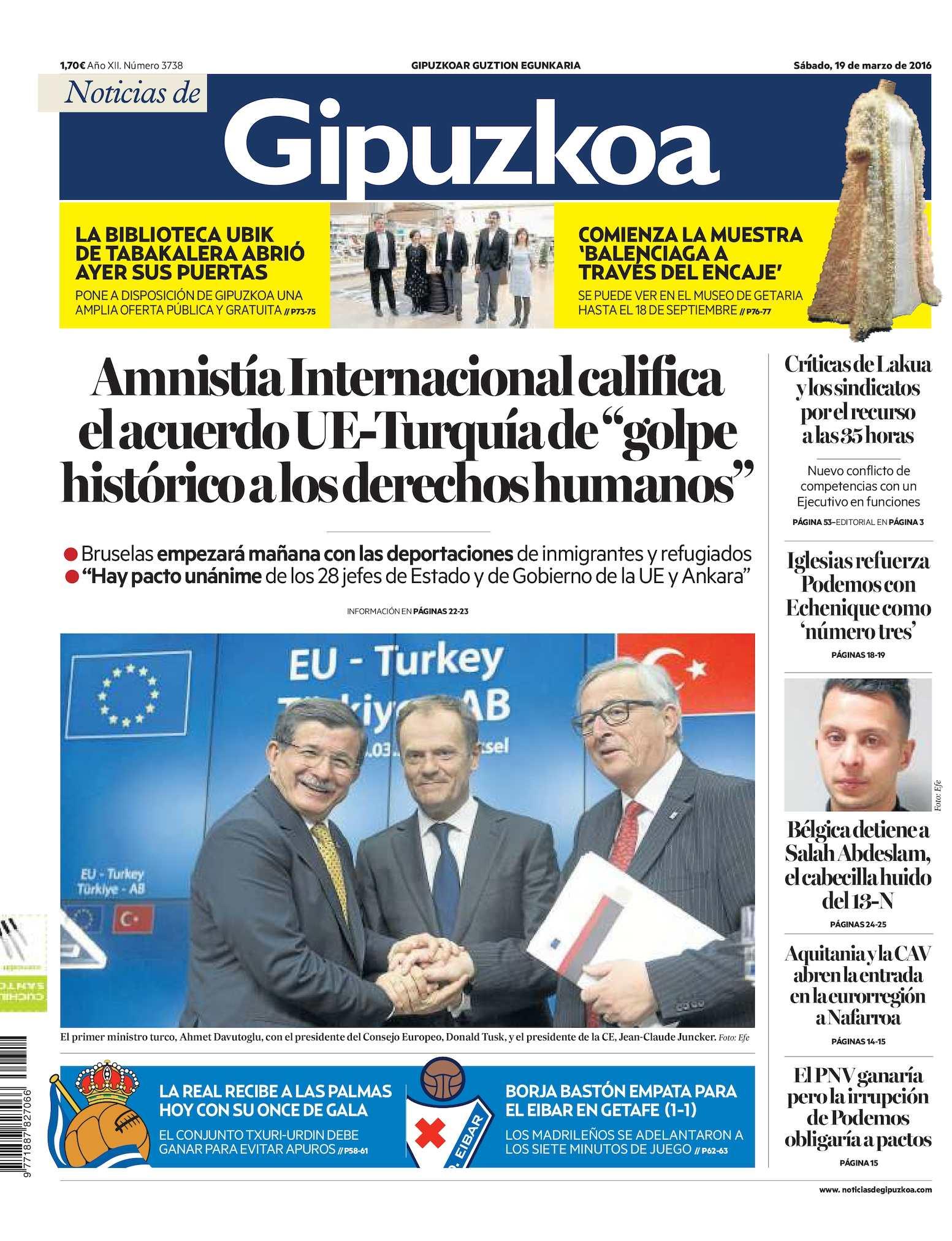 Calaméo Noticias De Gipuzkoa 20160319
