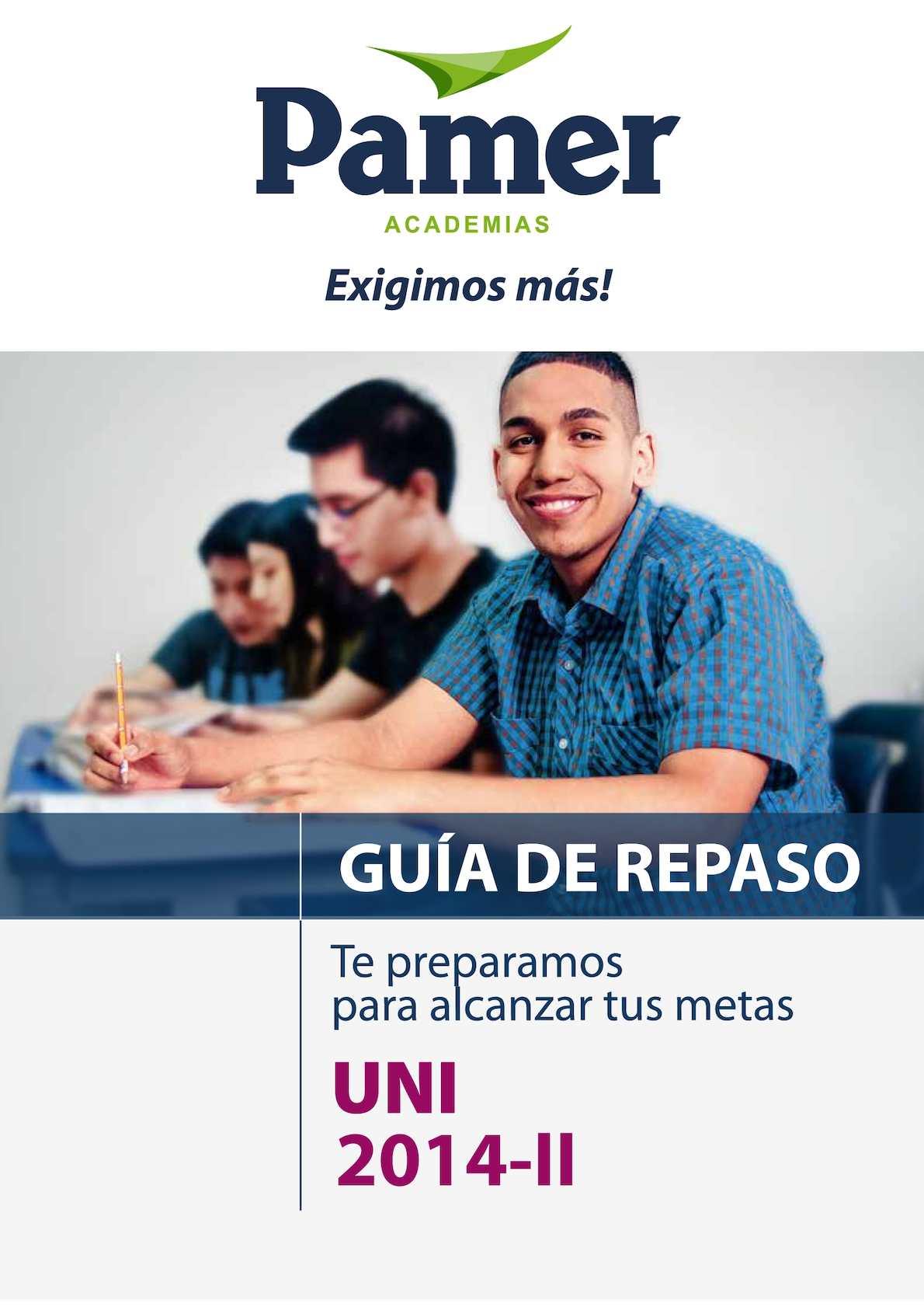REPASO PAMER UNI 2014 - II