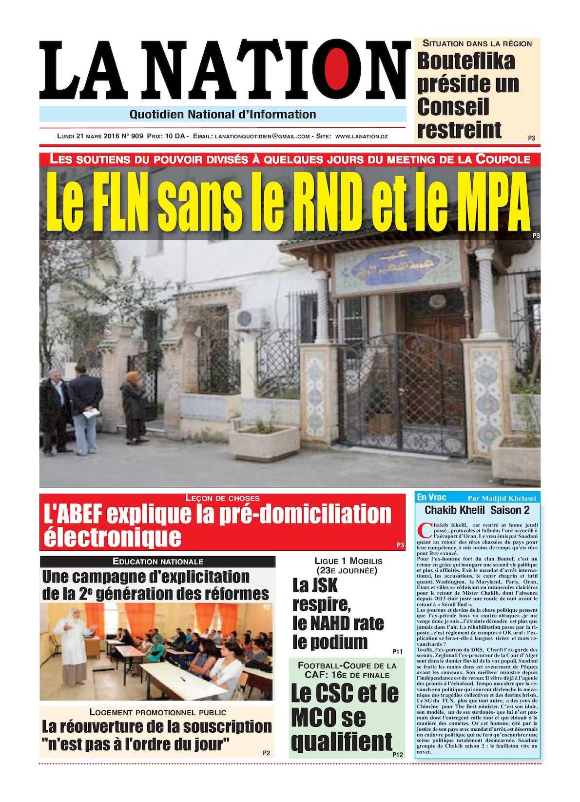 La Nation Edition N 909