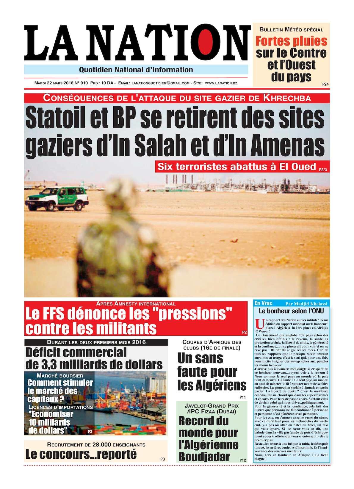 La Nation Edition N 910