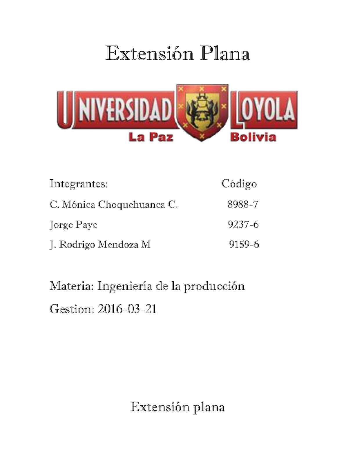 Extencion  Plana