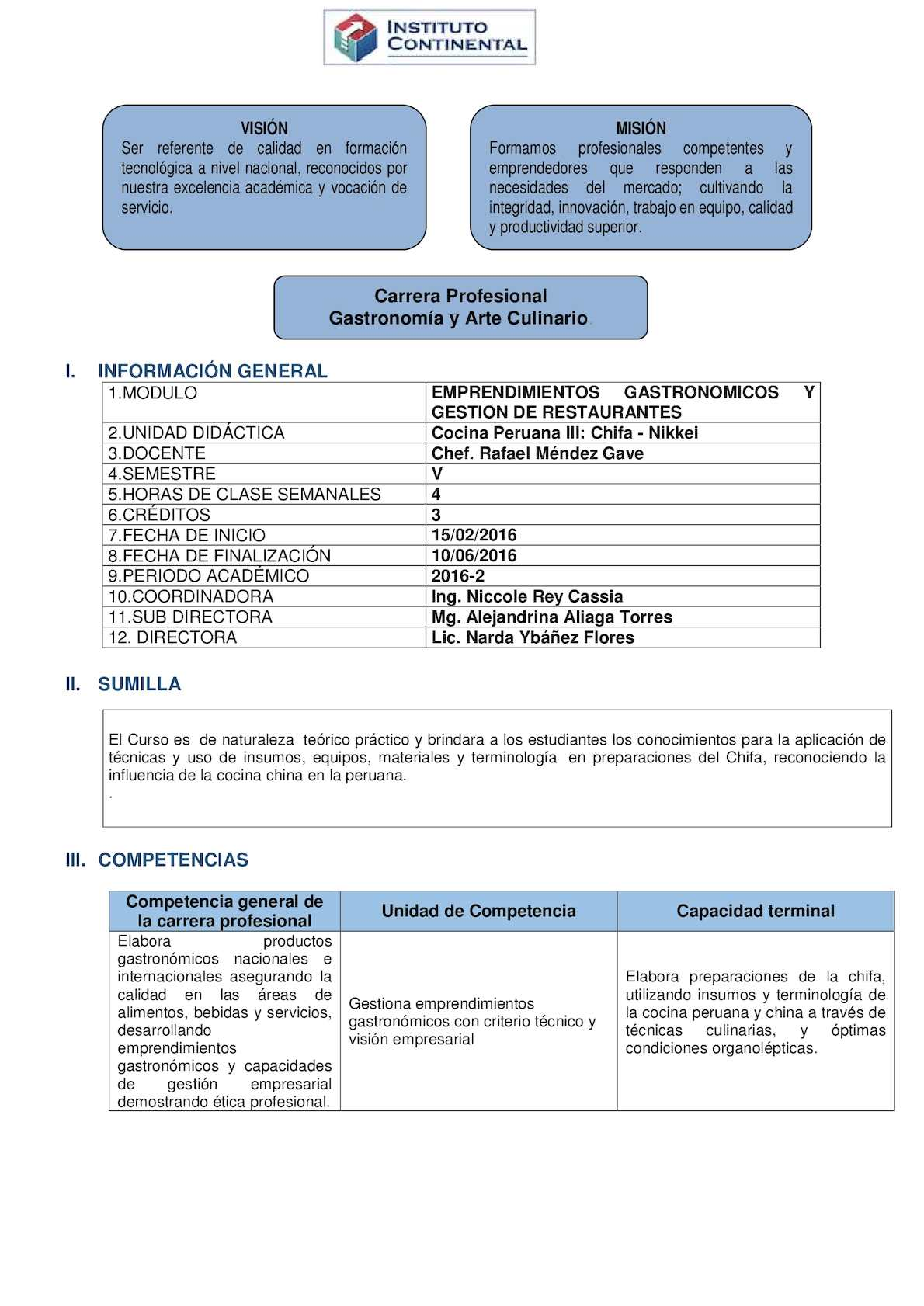 Calam o gast 5to cocina peruana iii chifa nikkei for Lista de materiales de cocina