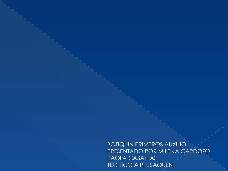 Calaméo - BOTIQUIN PRIMEROS AUXILIOS