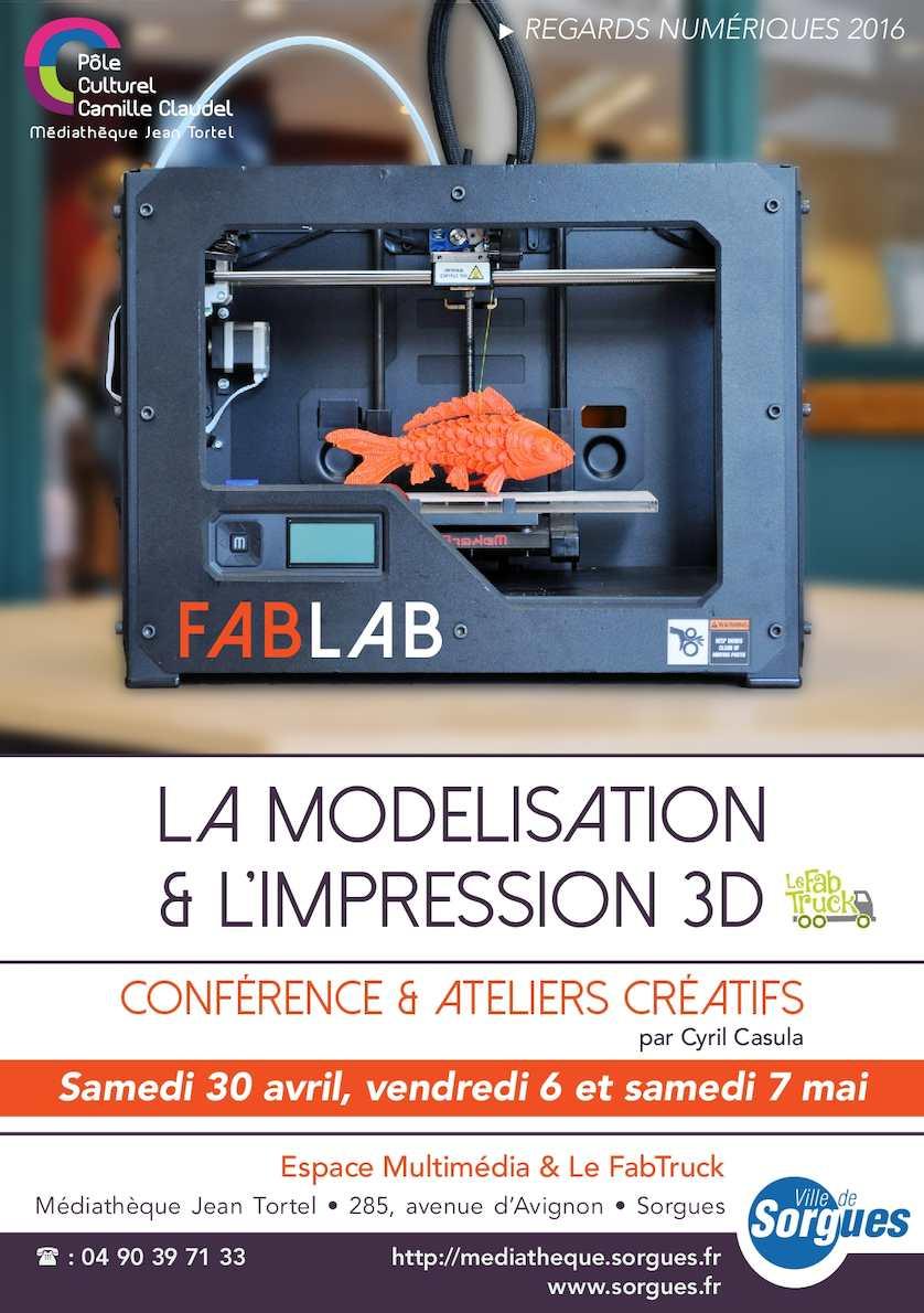 """Programme """"Regards Numériques"""" : l'impression 3D"""