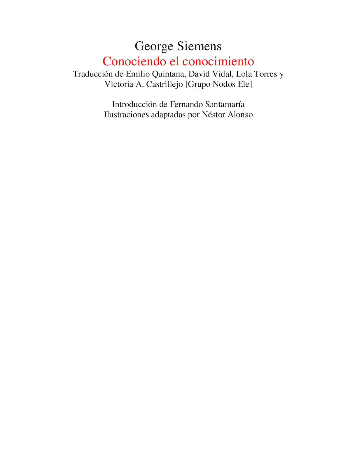 Calaméo - Conociendo el conocimiento - George Siemens