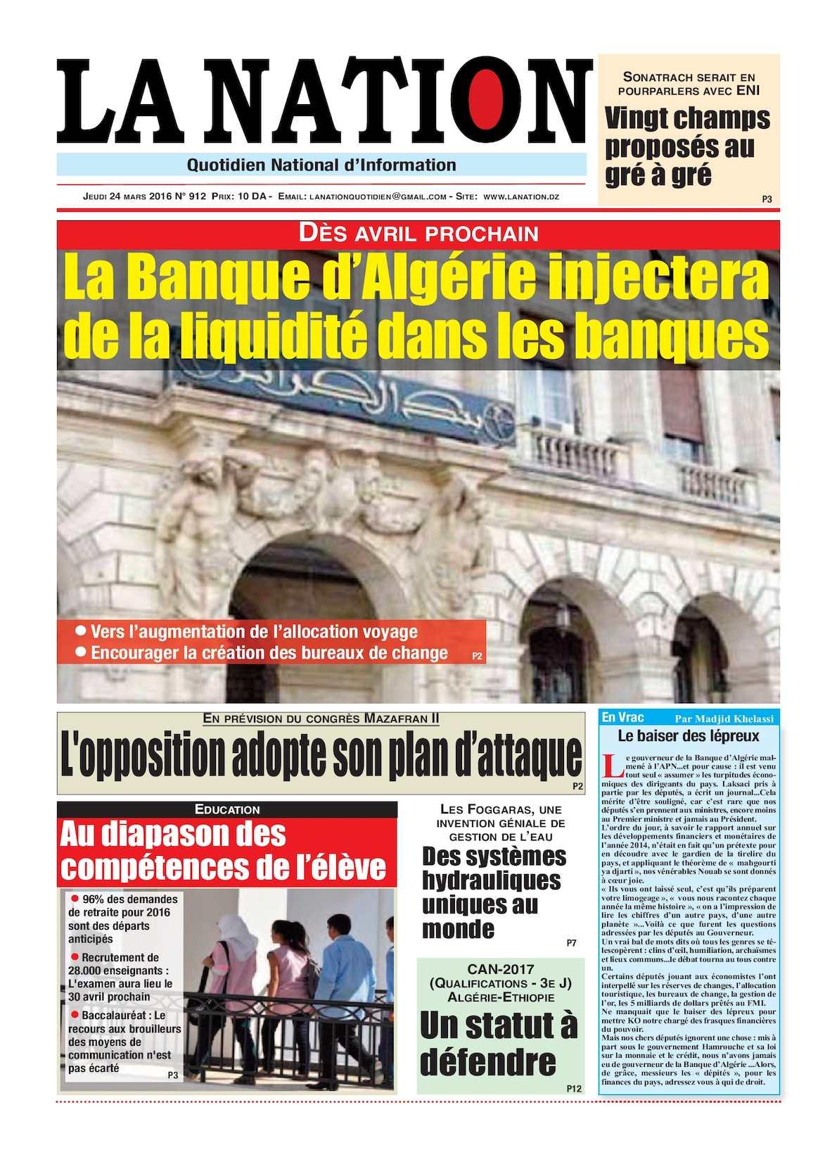 La Nation Edition N 912