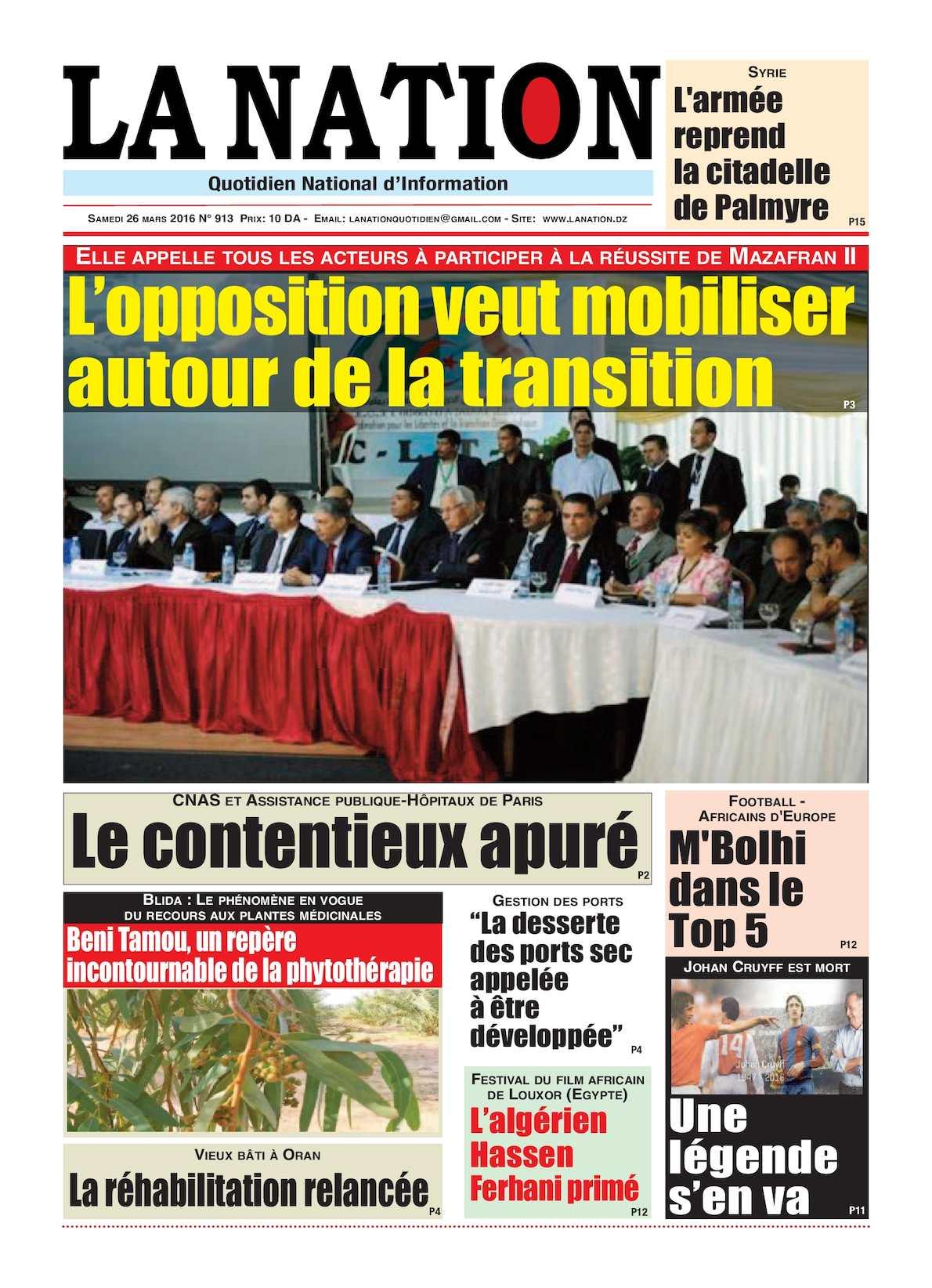 La Nation Edition N 913