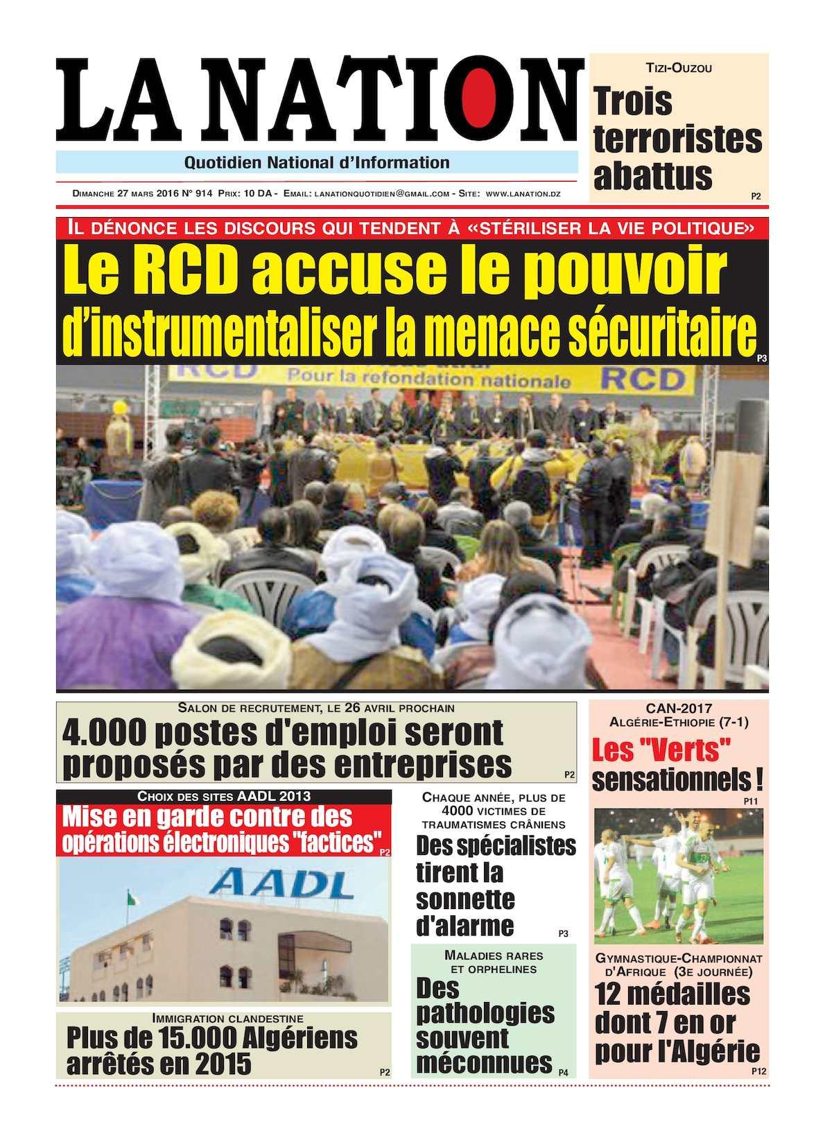 La Nation Edition N 914
