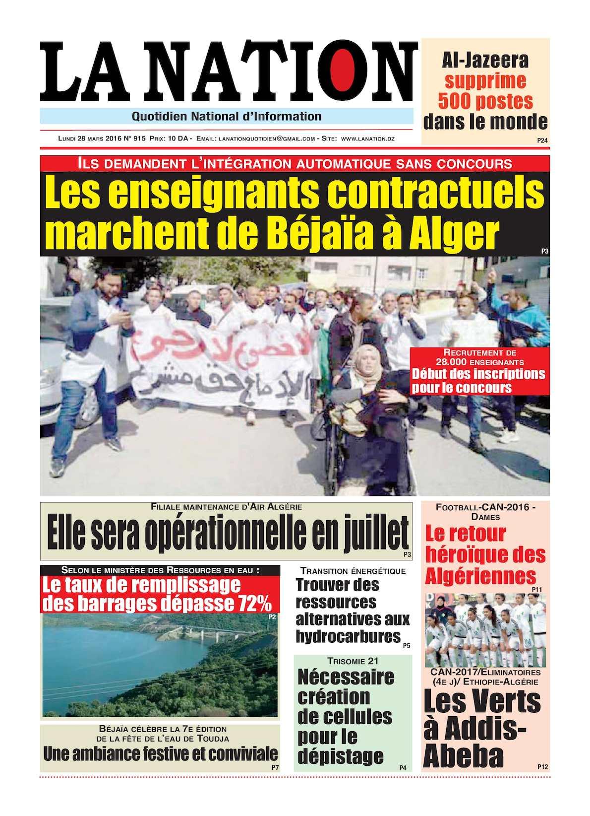 La Nation Edition N 915