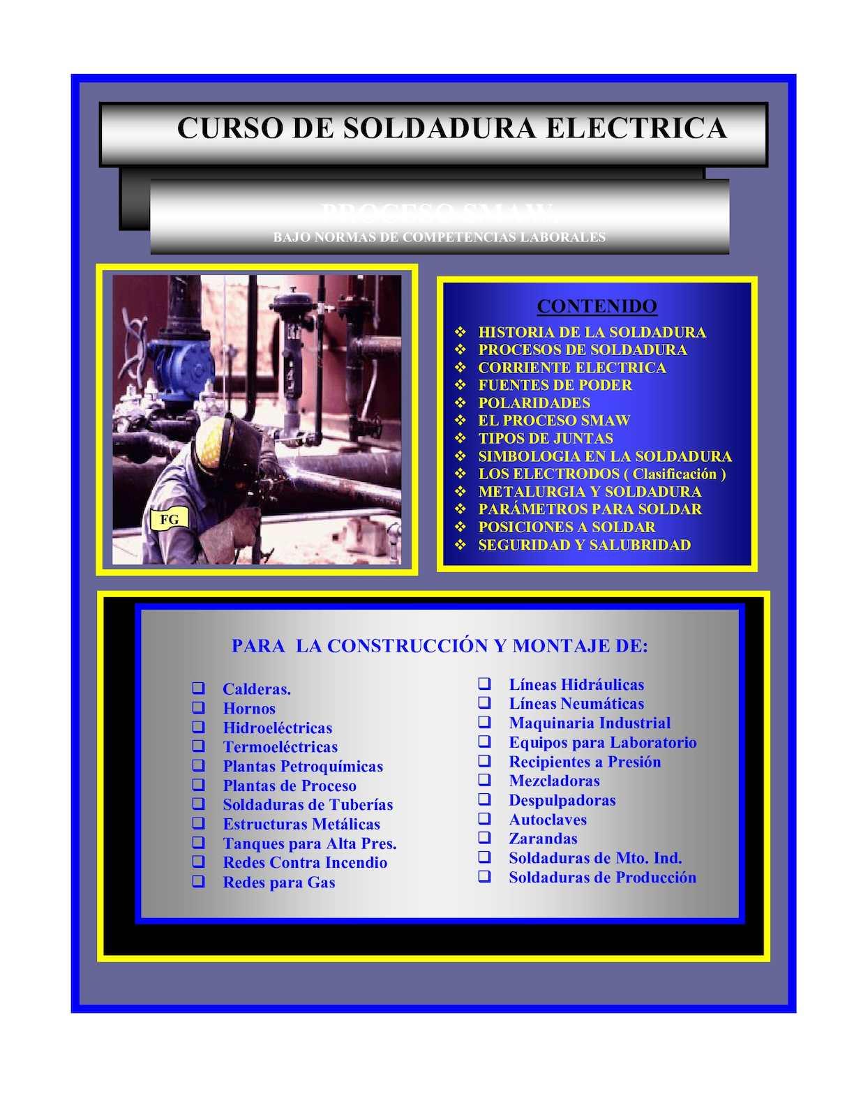 Calaméo - Curso de Soldadura Eléctrica; Fidel García Navarro