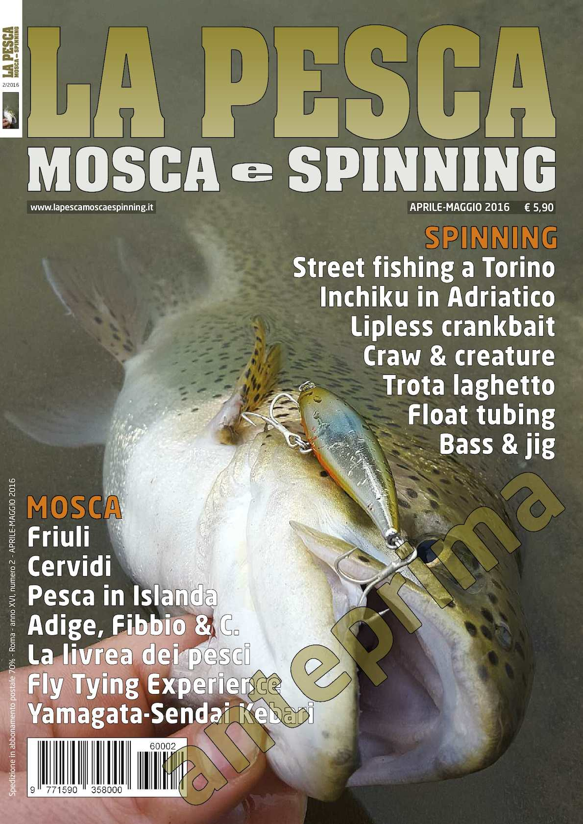 La Pesca Mosca e Spinning 2/2016 preview