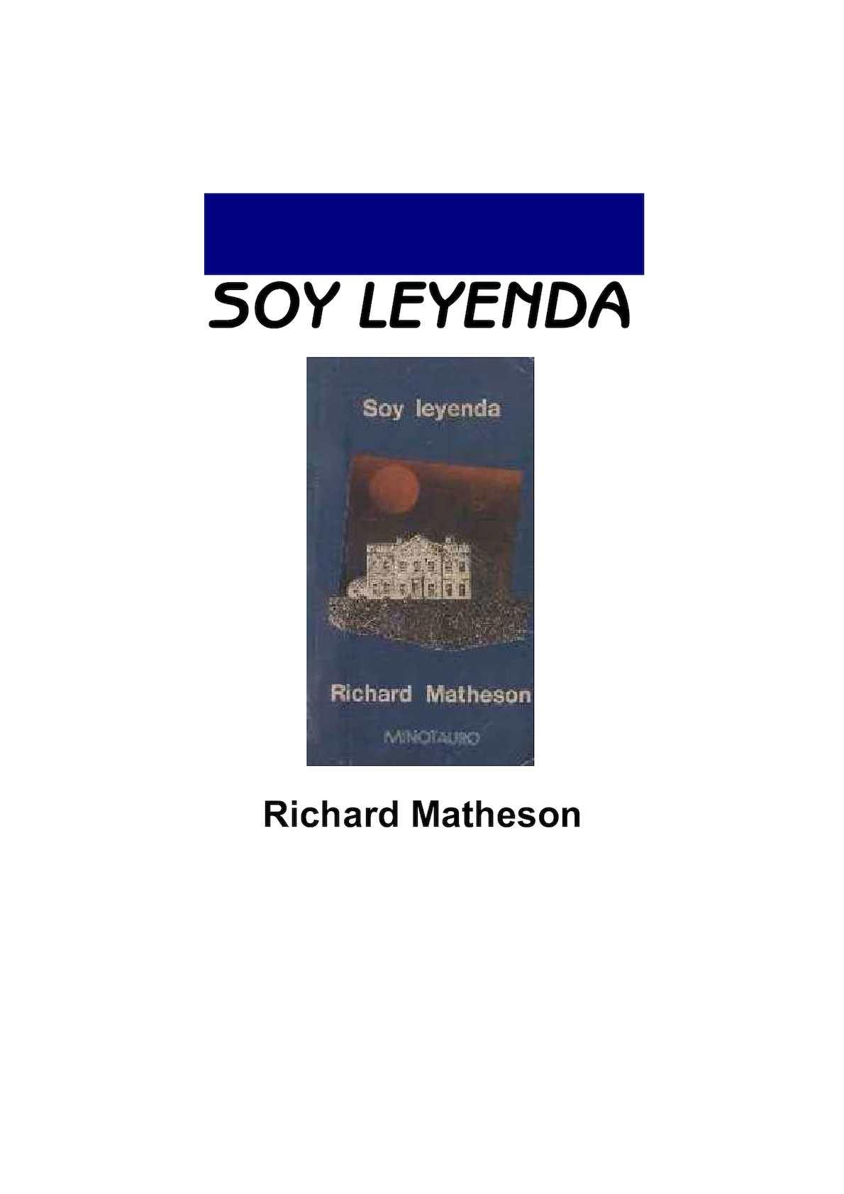 Calaméo - Soy Leyenda Richard Matheson