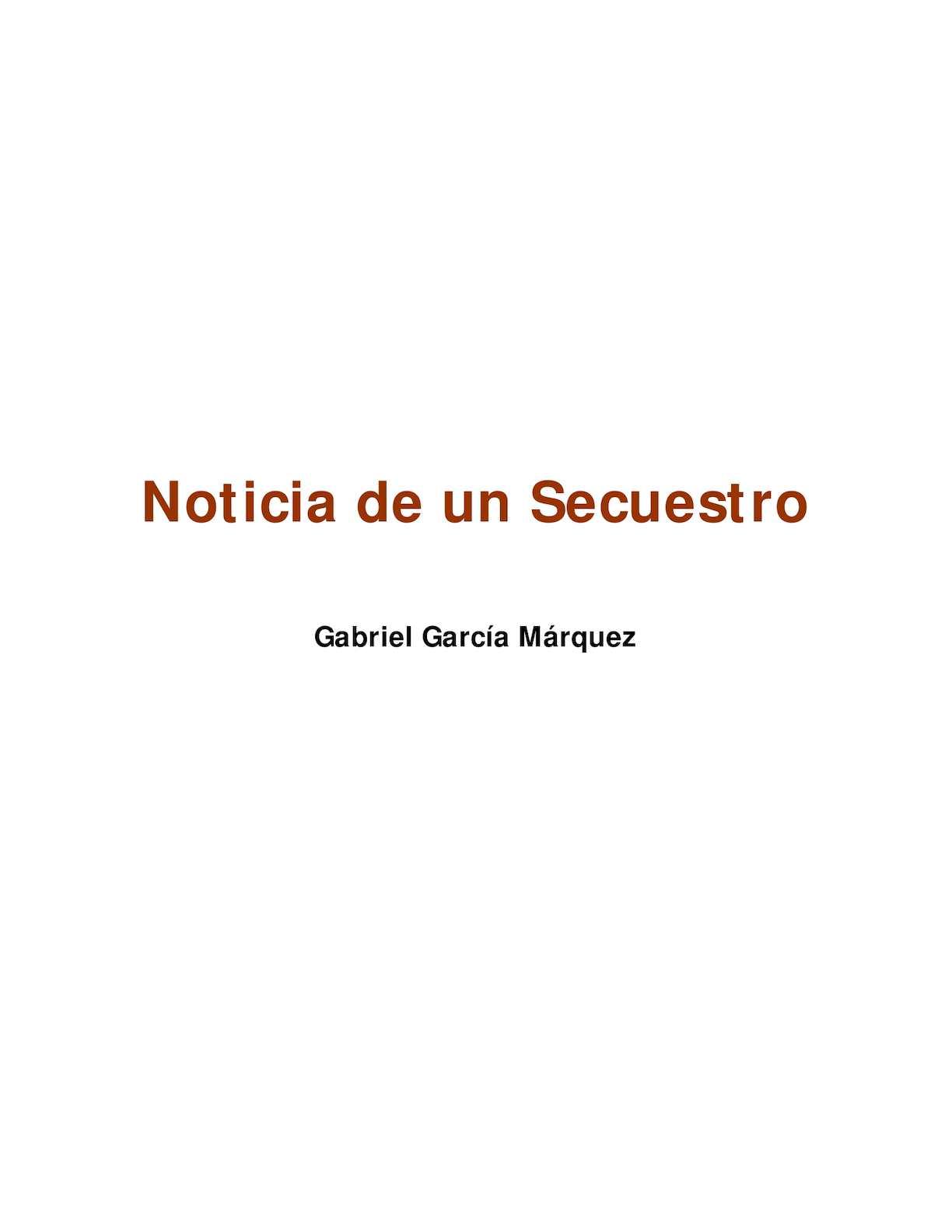 Calaméo - Noticia De Un Secuestro