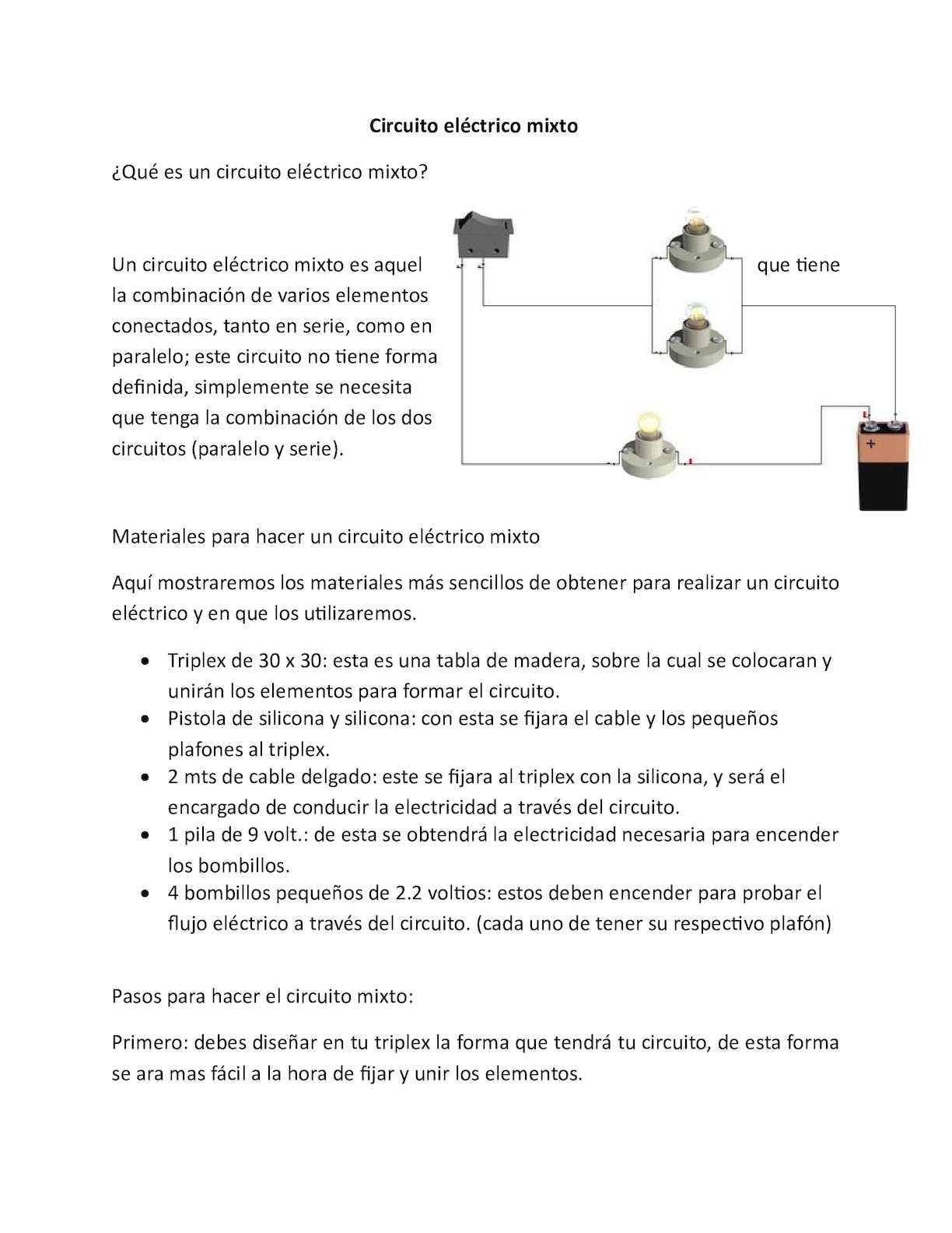 Circuito Electrico Simple : Calaméo circuito eléctrico mixto