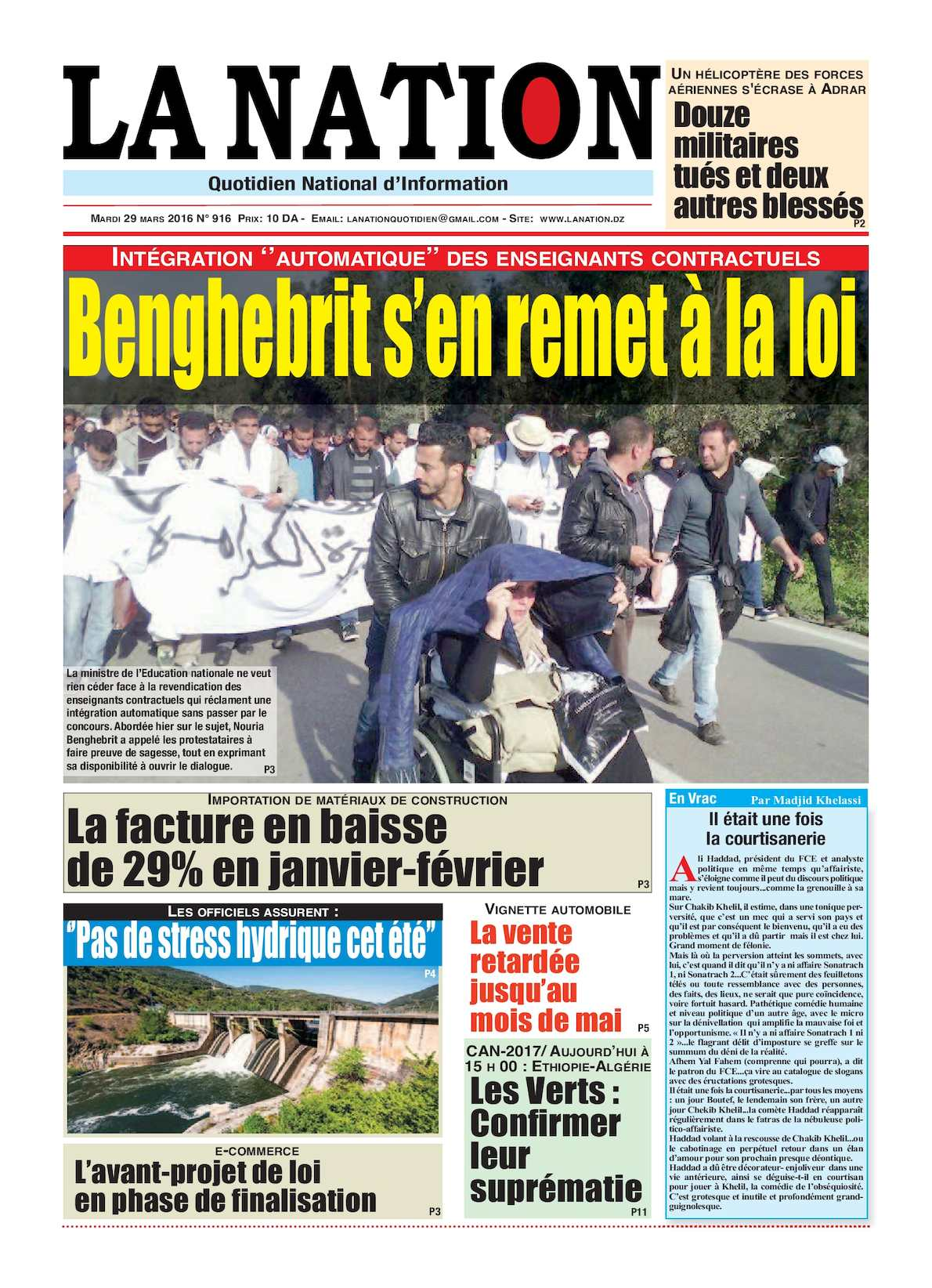 La Nation Edition N 916