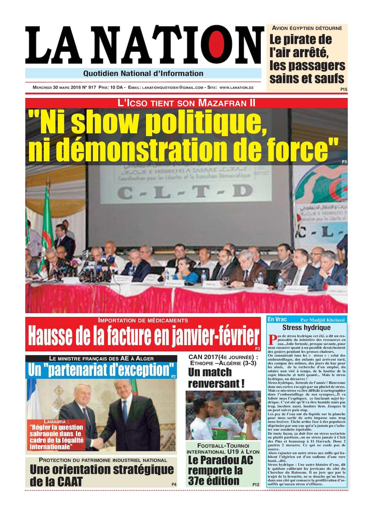 La Nation Edition N 917
