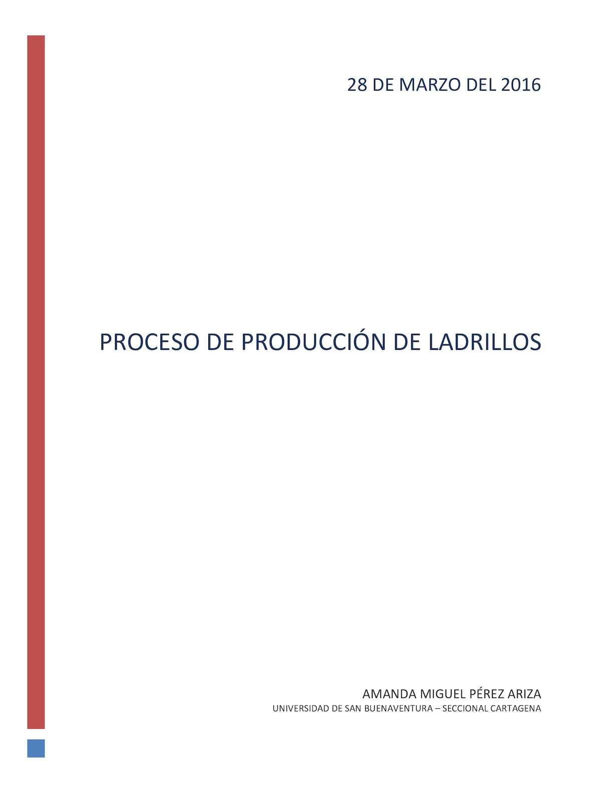 Proceso De Produccion De Ladrillos
