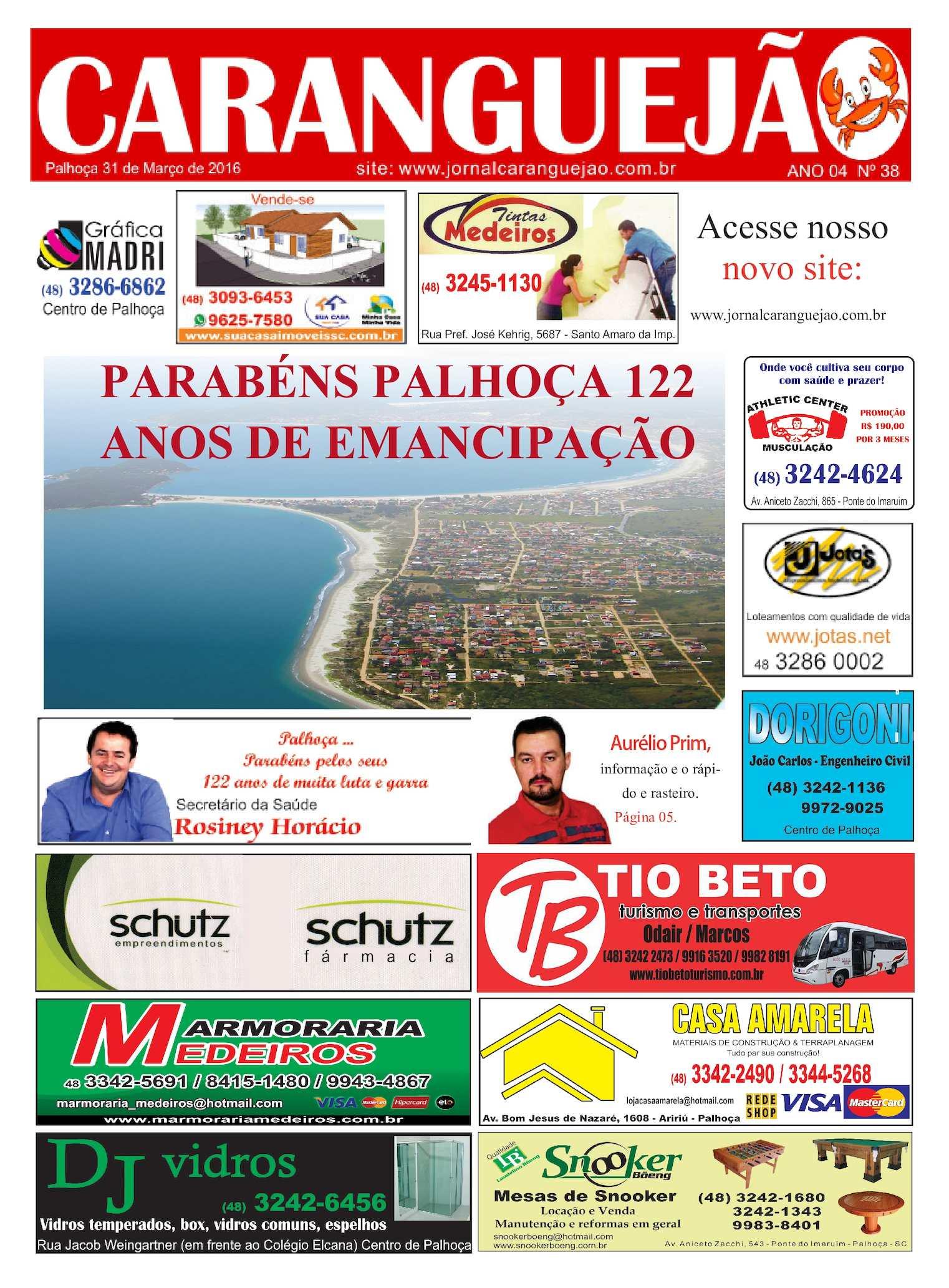 Calaméo - EDIÇÃO N° 38 JORNAL CARANGUEJÃO 7443c8e53d88d