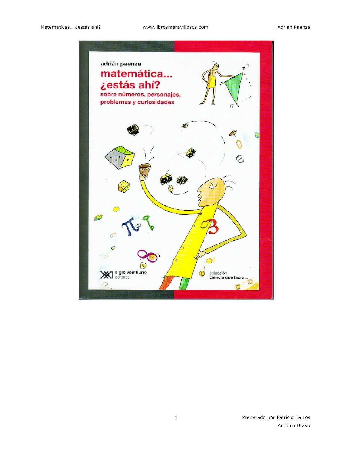 Calaméo - Matematicas Estas Ahi - Adrian Paenza